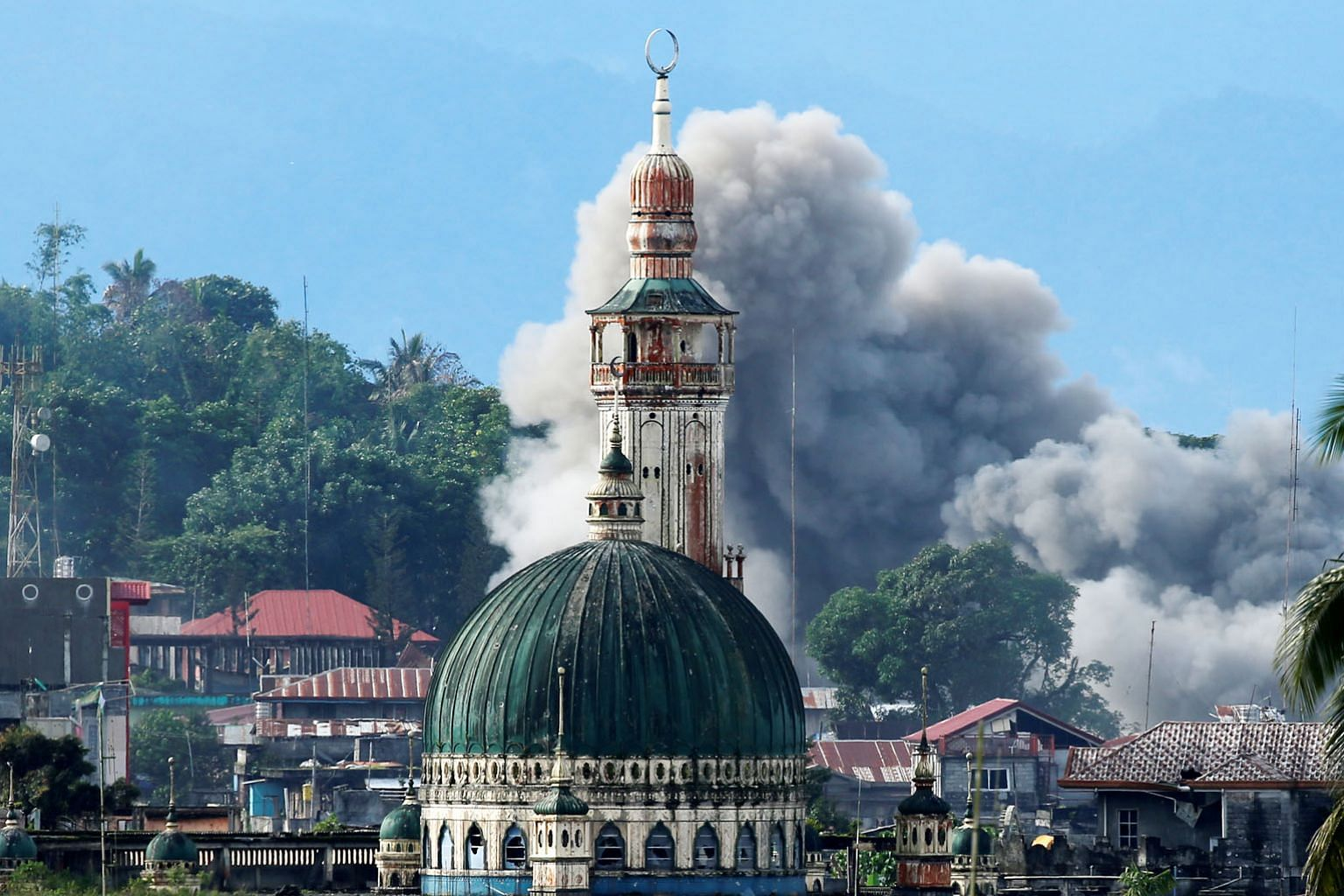 An explosion in Marawi City after an air strike on June 29. ISIS may fade out in Iraq and Syria physically, but its ideology will remain alive and continue to lure those who are marginalised economically, deprived politically and retarded culturally,
