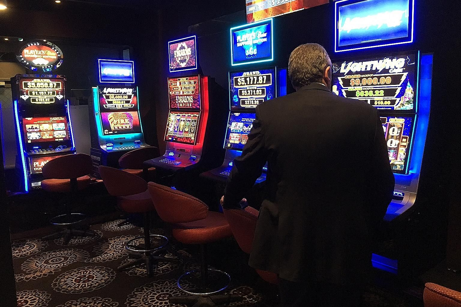 Of the 200,000 slot machines, some 93,000 are in the state of New South Wales. About 500,000 Australians are said to be problem gamblers or at risk of developing a problem.