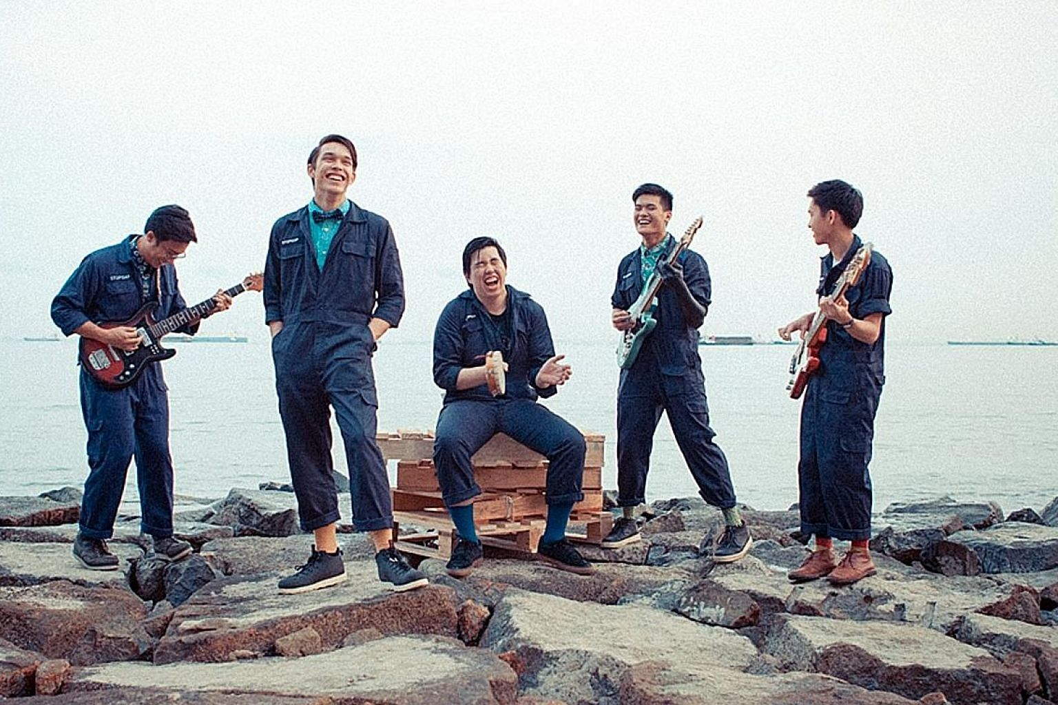 Coffee addicts at this year's festival at the Marina Bay Cruise Centre can look forward to (from left) choux and cappuccino from Ollella Cafe as well as enjoy performances from folk singer Jawn Chan and indie rock band StopGap.
