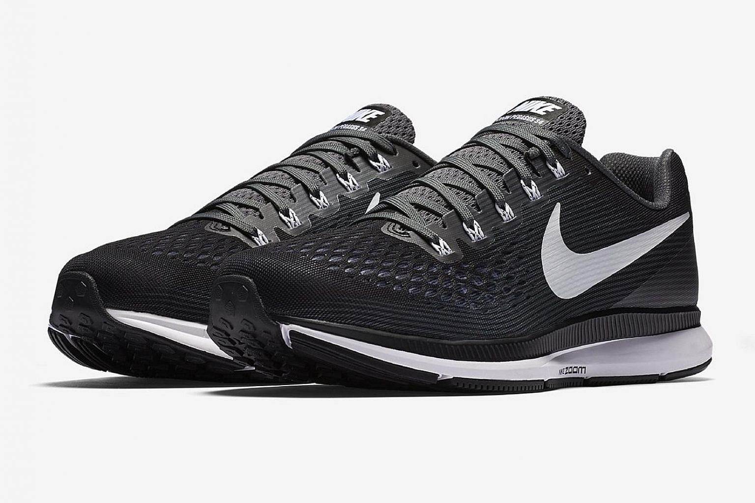 The upper of the Nike's Air Zoom Pegasus 34 is made of a Flymesh that is said to provide better ventilation and support for your feet.
