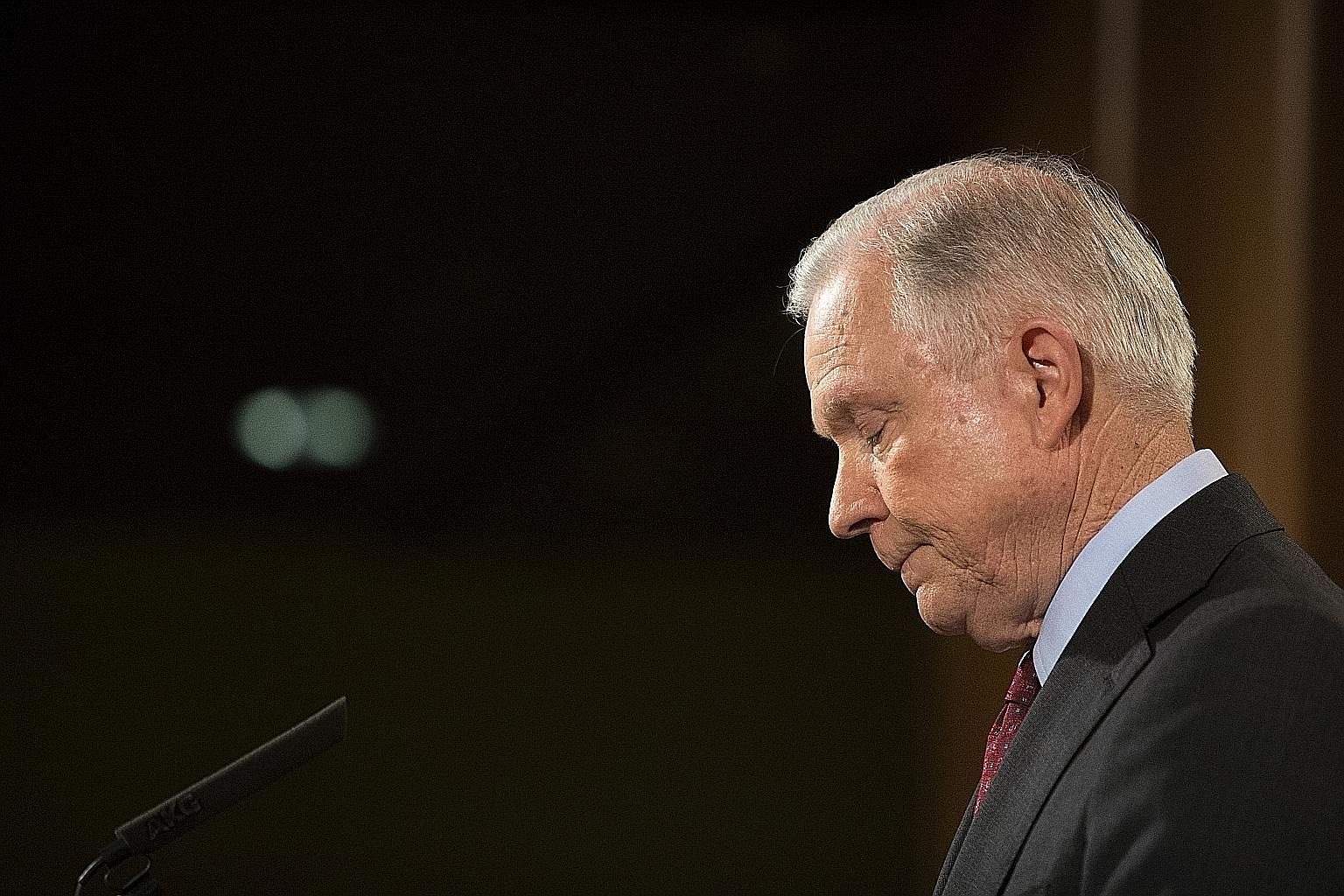 US Attorney-General Jeff Sessions, who has been openly criticised by Mr Trump, has said he has no plans to resign.