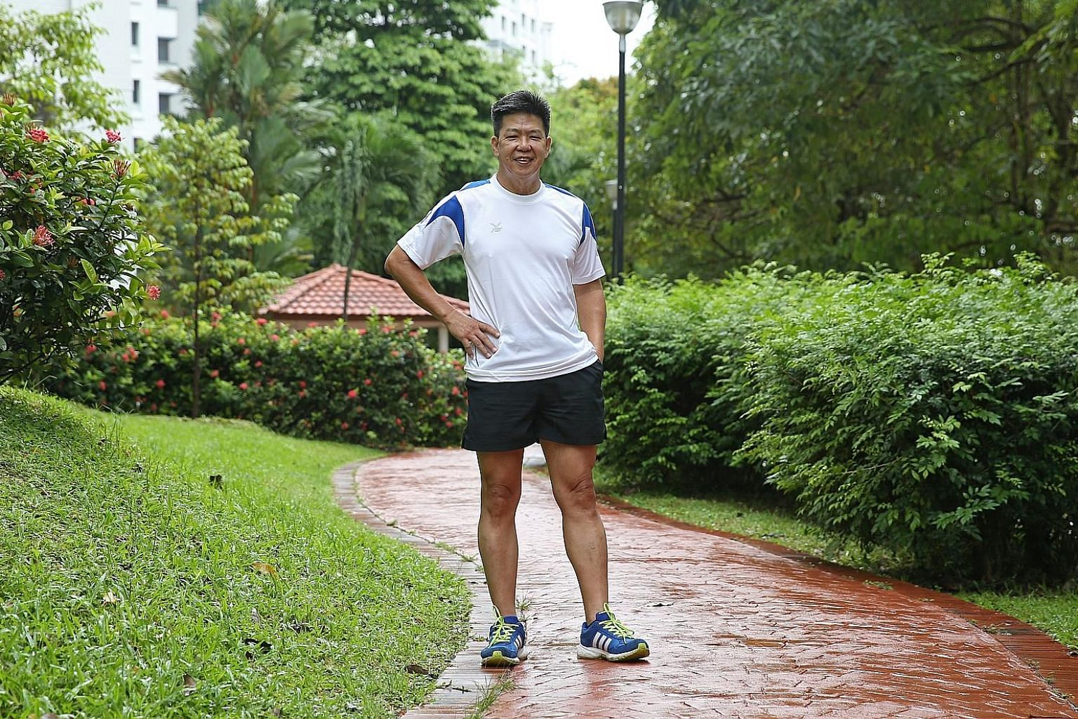 Mr Koh Teck Hoe once smoked 20 sticks a day. He swore off the habit after discovering that he had stage three colorectal cancer and that smoking could have played a role. Since his recovery, he jogs every day and plays badminton with his family durin