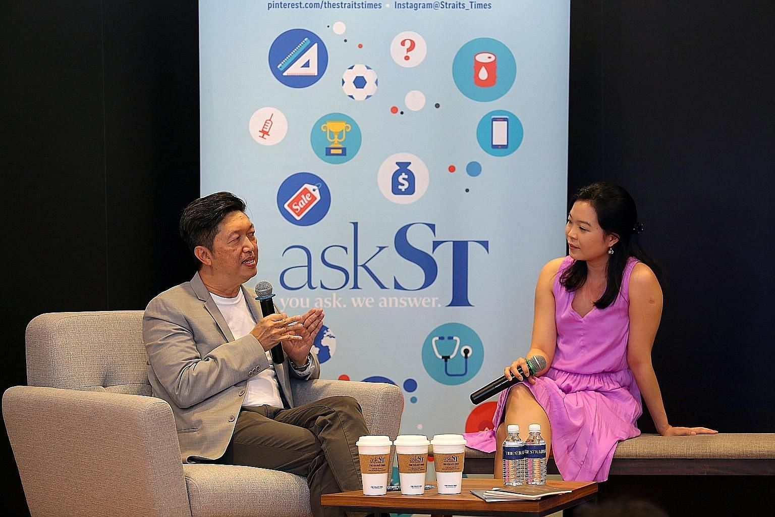 ST food critic Wong Ah Yoke and SPH's Fiona Chan at last year's Singapore Coffee Festival.