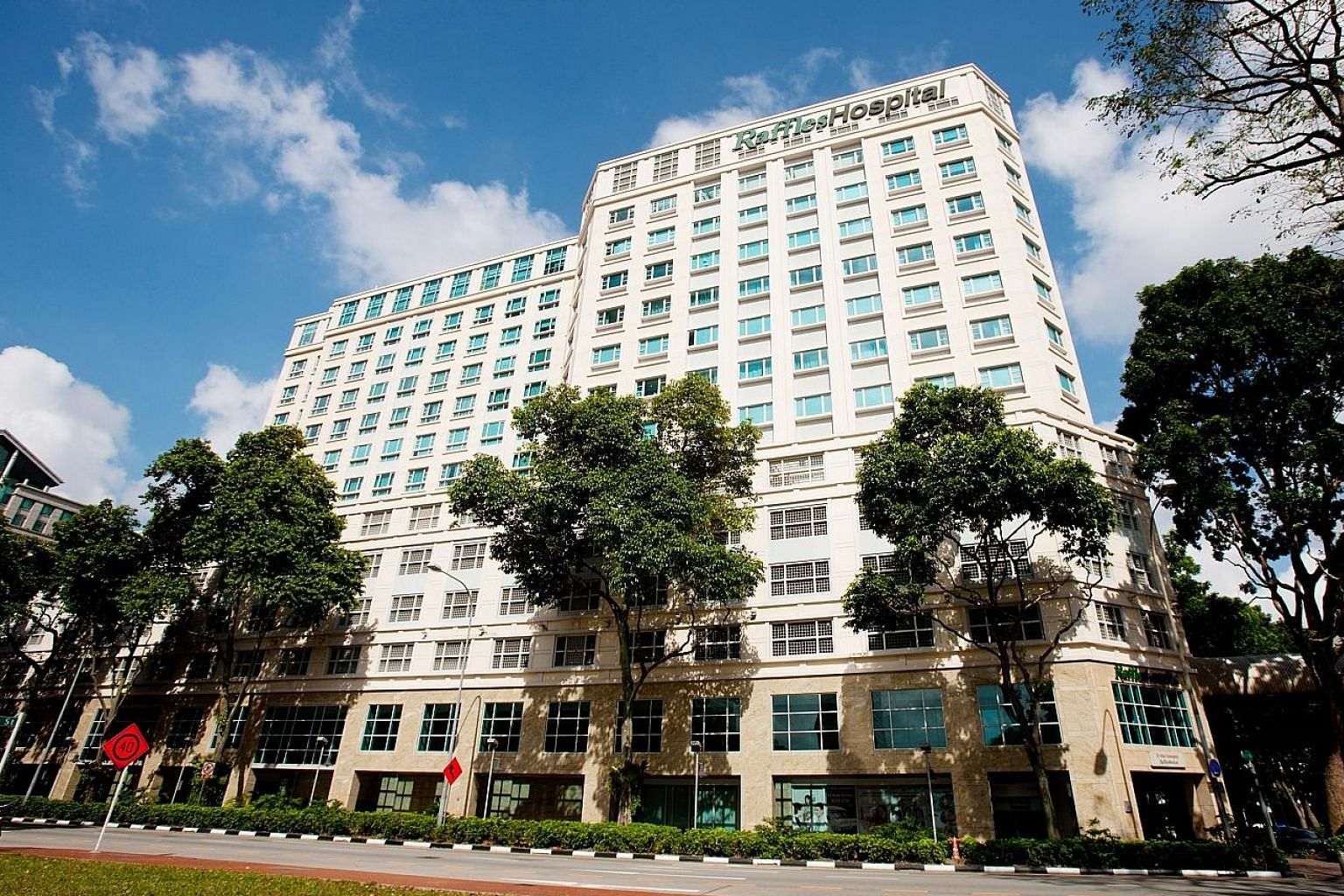 Raffles Medical Group is expecting a boost from the extension to its Raffles Hospital, which will increase its bed and outpatient care capacity.