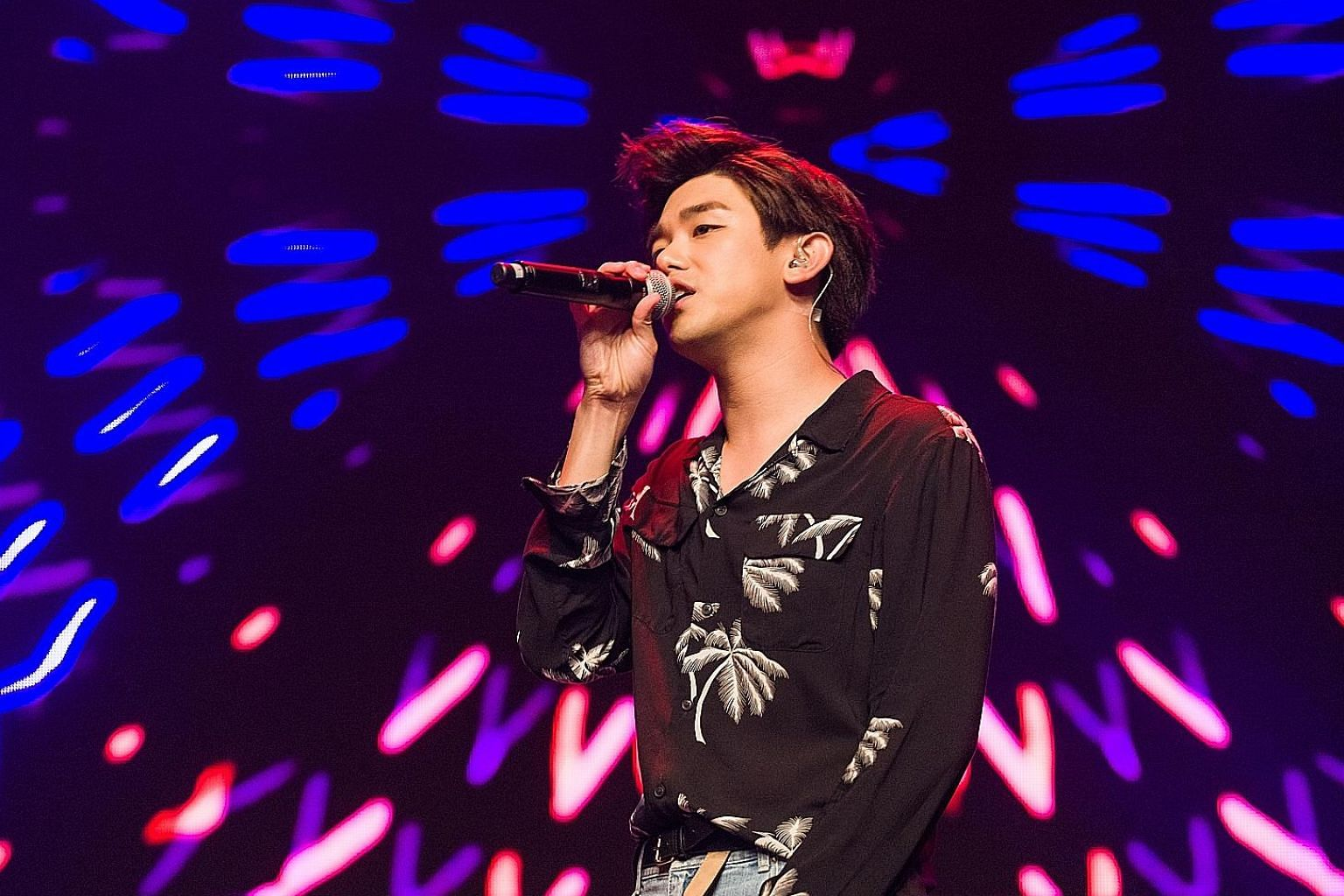 Korean-American K-pop singer Eric Nam is based in South Korea, where he is the go-to entertainment reporter for interviews with Hollywood stars.