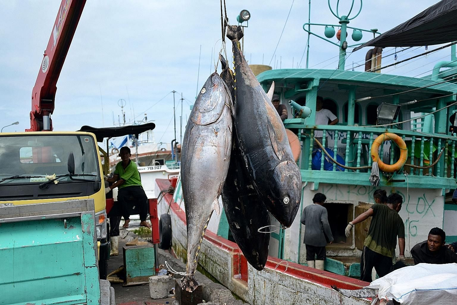 Fishermen in Bali unloading their tuna catch. Fishing on the high seas, often with generous government subsidies, is a multibillion-dollar industry, particularly for high-value fish served in restaurants.