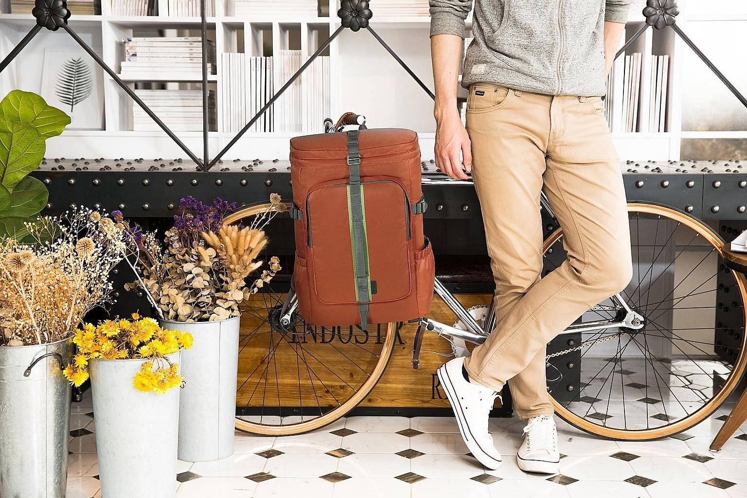 The Targus Seoul Backpack is available in two sizes to fit 14-inch and 15.6-inch laptops.