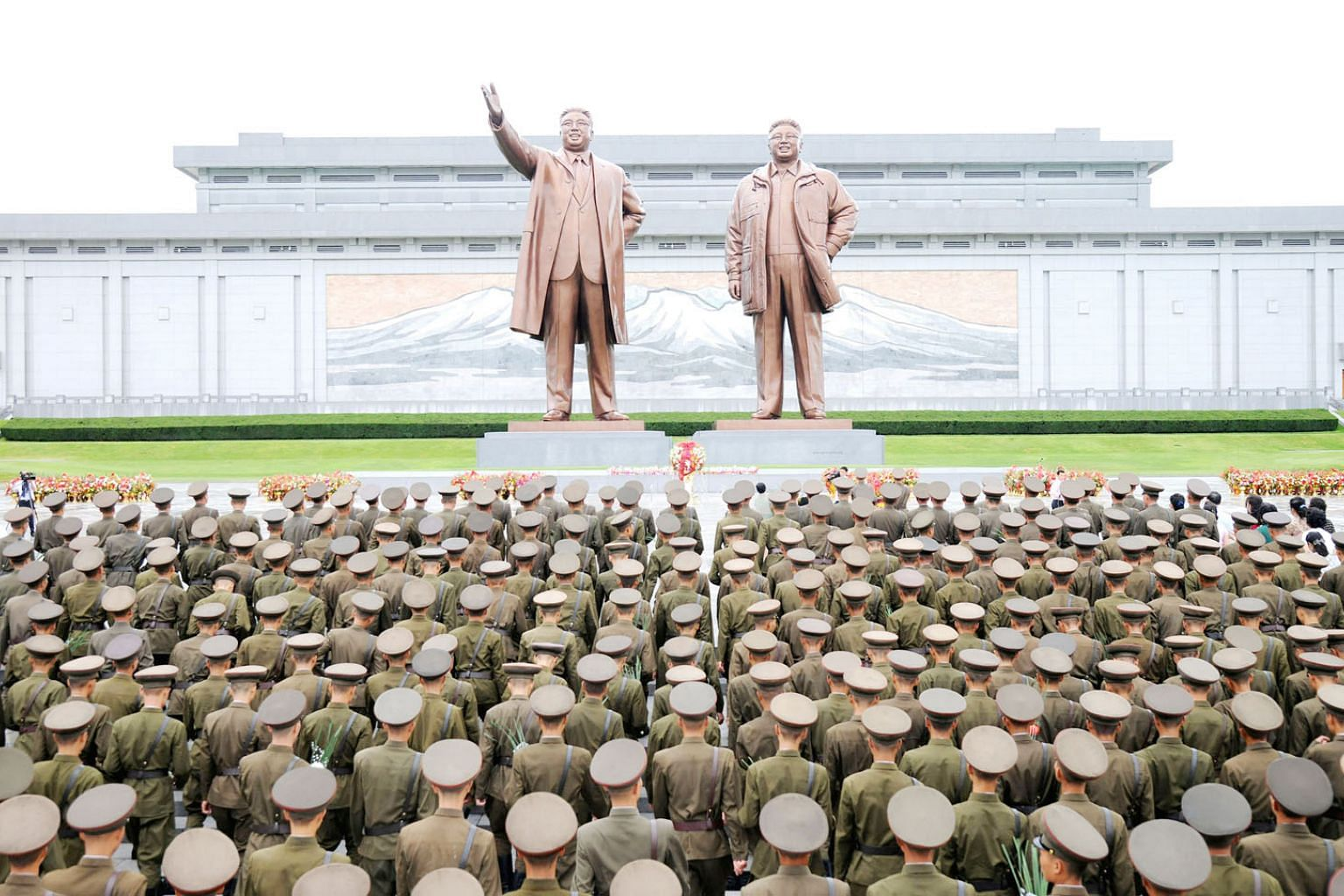 A gathering in North Korea to mark the 72nd anniversary of national liberation in this undated photo released by the North's Korean Central News Agency on Tuesday. The US owes it to regional allies to vocalise a vision that engages Asean states for t