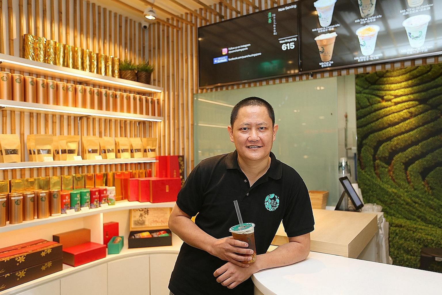 Mr Goh Chee Cheng opened bubble tea outfit Yuan Cha in September last year.