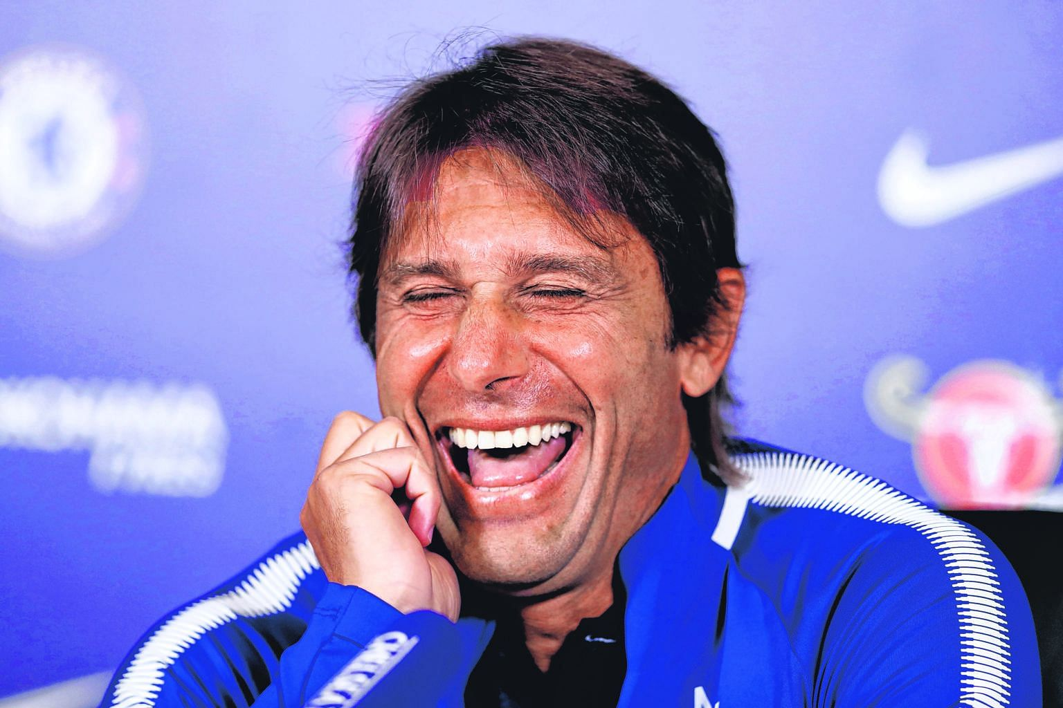 Behind Antonio Conte's fake laugh last Friday, he is brooding. The Italian boss is the bookies' favourite to be the first EPL casualty in 2017-18.