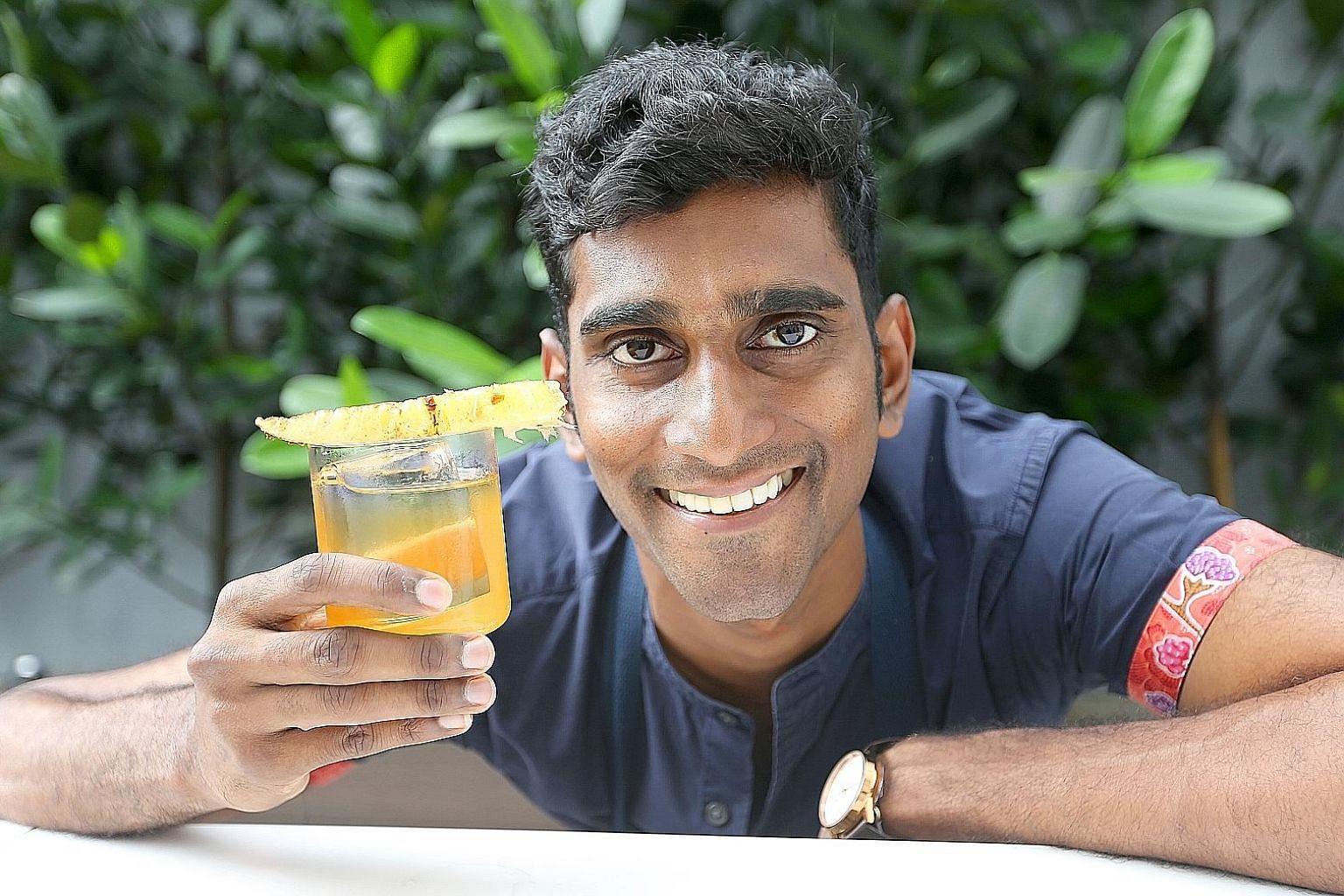 Vijay Mudaliar (above) will experiment with native Australian ingredients to create his drinks.