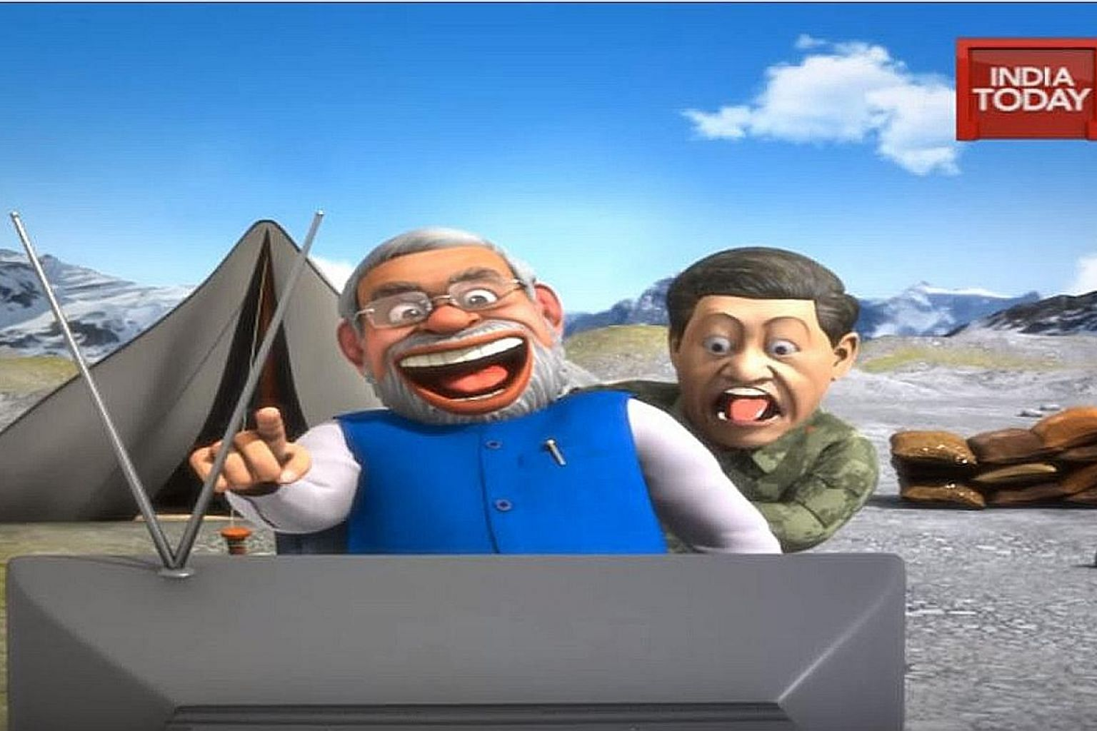 In the animated video produced by privately owned Indian media organisation India Today, Chinese President Xi Jinping is seen getting enraged over a caricature of him on a TV screen dancing while dressed as Winnie the Pooh, even as Indian Prime Minis