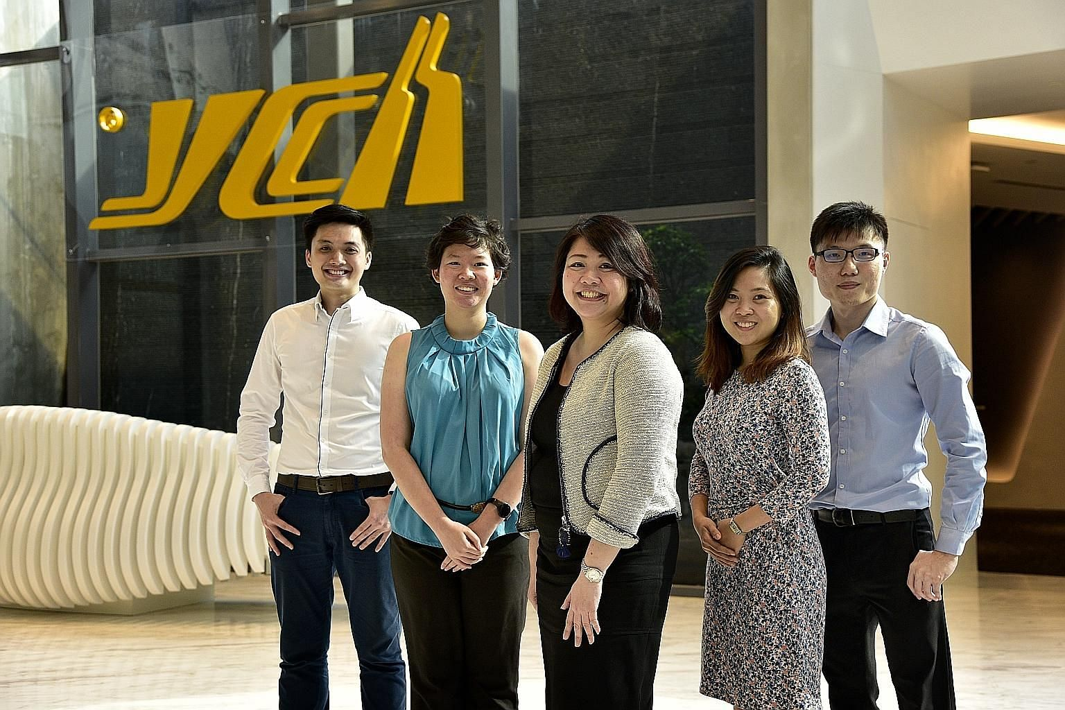 YCH Group head honcho Robert Yap, who took over in 1980, was instrumental in using technology to not only further the firm's regional expansion, but also to keep its employees ahead of the game. Staff from YCH include (from far left) Mr Ngoh Jun Dat,