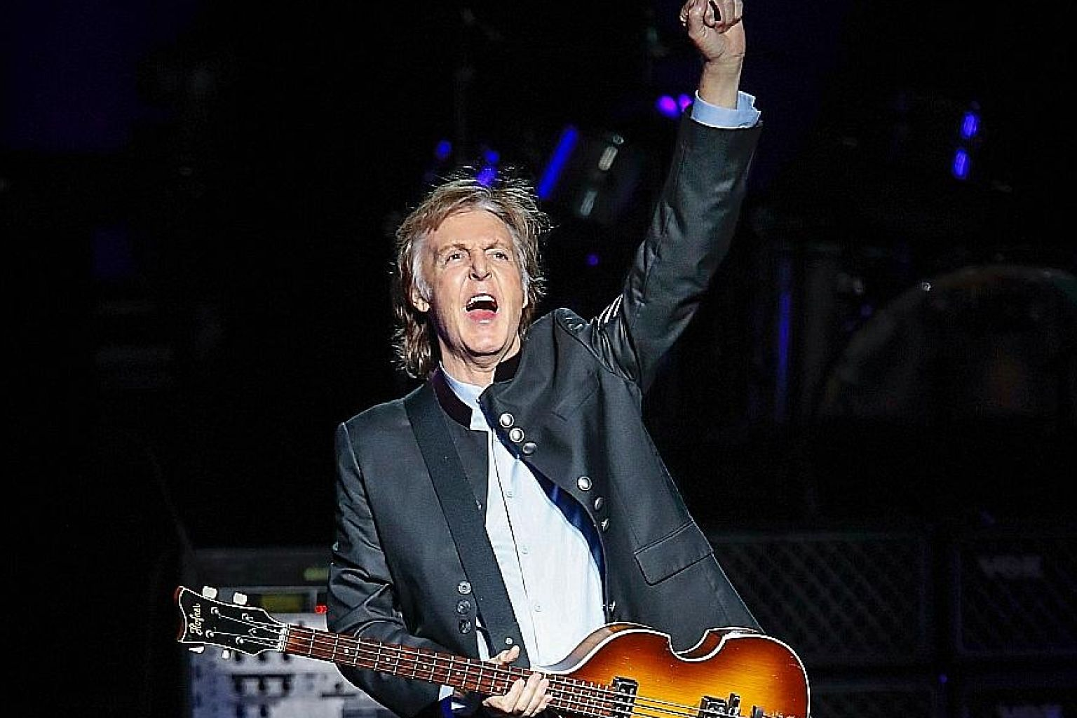 Paul McCartney performing at Tinley Park, Illinois, last month.