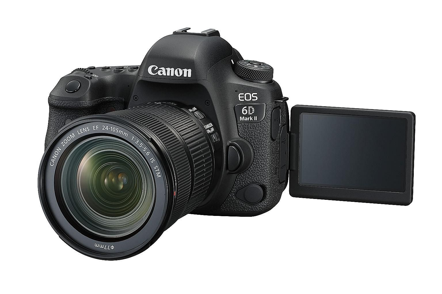 Better shooting speed, more autofocusing points and excellent battery life are among the stand-out features of the Canon EOS 6D Mark II.
