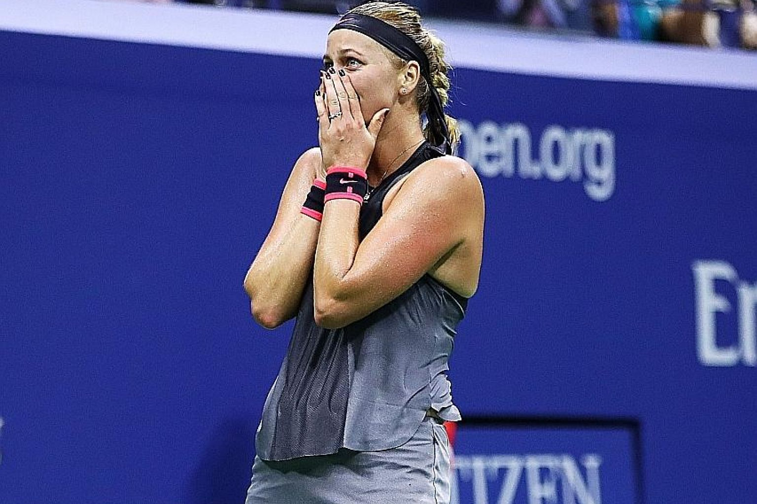 Petra Kvitova can hardly believe she has knocked out Wimbledon champion Garbine Muguruza in the fourth round of the US Open. The Czech is on the comeback trail after her left playing hand was slashed by an intruder - an injury that threatened to end