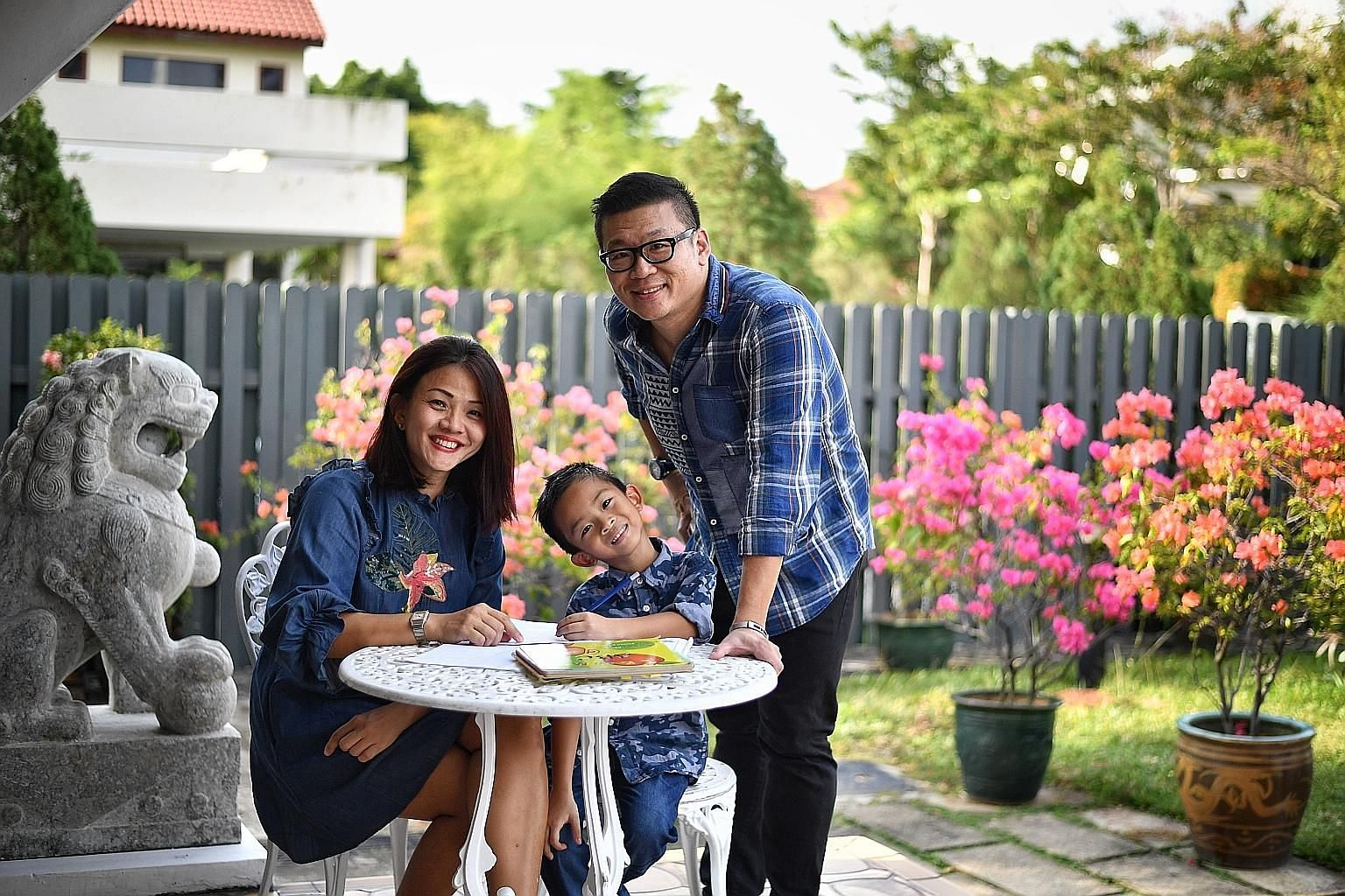 Mr Adrian Ng and his wife Joyce Wong enrolled their youngest child, Daven, six, in a five-day handwriting course.
