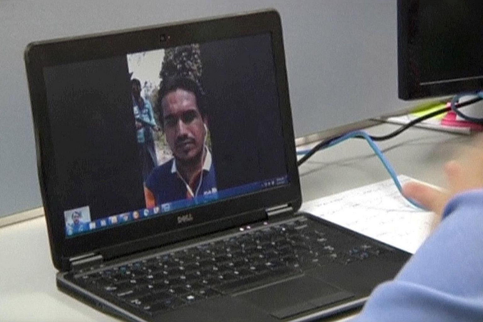 Ata Ullah, leader of the Arakan Rohingya Salvation Army, or Arsa, seen here during a Skype interview with Reuters in Yangon.