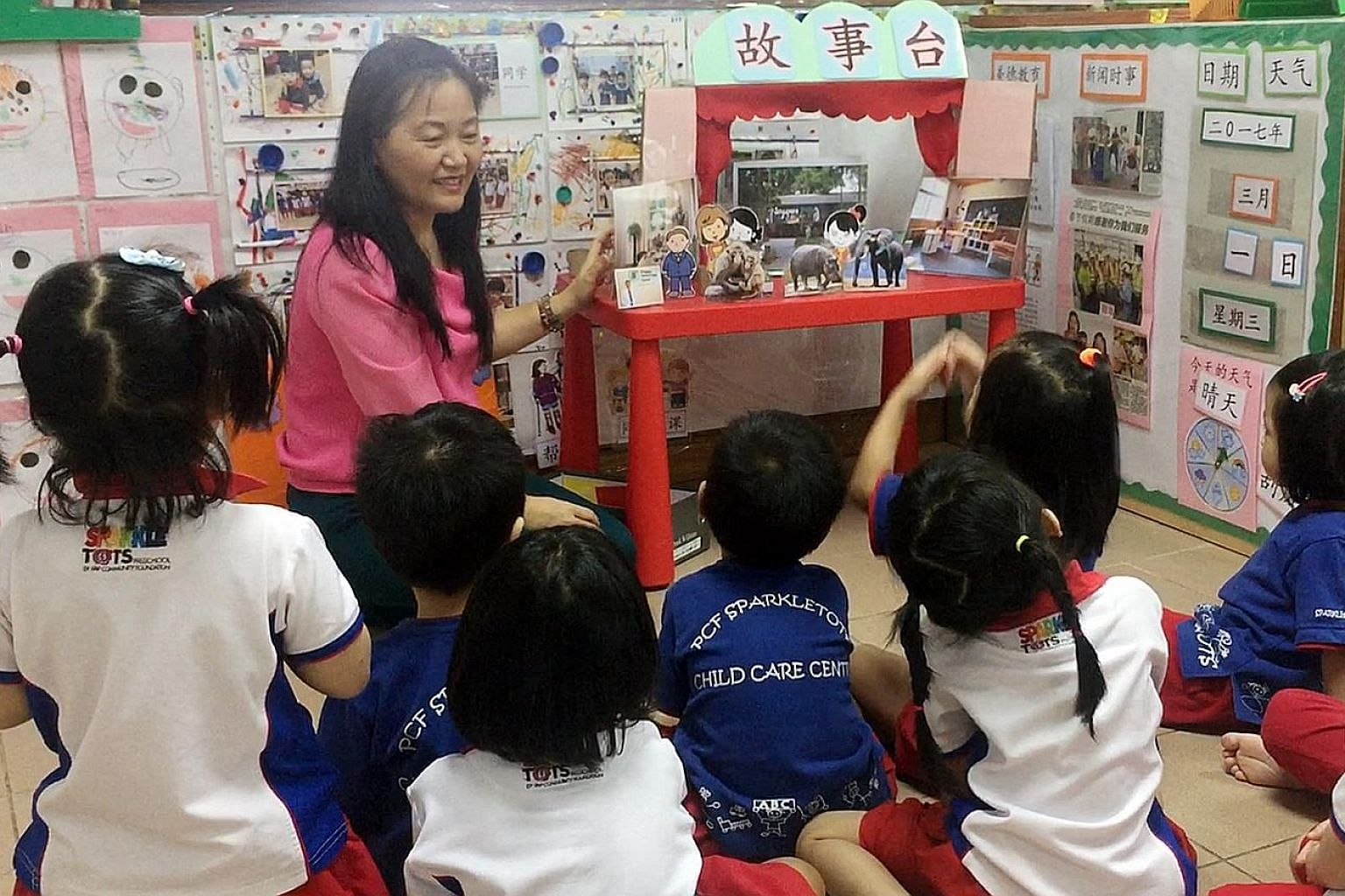 PCF Sparkletots introduced new elements, such as using handmade characters, to bring stories to life in its Chinese curriculum for Nursery 2 children this year.