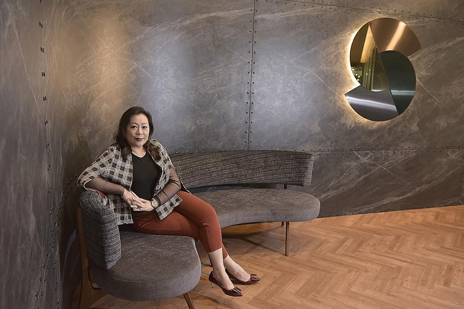 Ms Cheryl Lee, co-founder of Spectrum, is seen here at the club which takes up 28,000 sq ft of space on the fifth floor of Duo Tower in Bugis. The aim of the club is to create a community for fast-growing tech companies to tap capital and expertise.