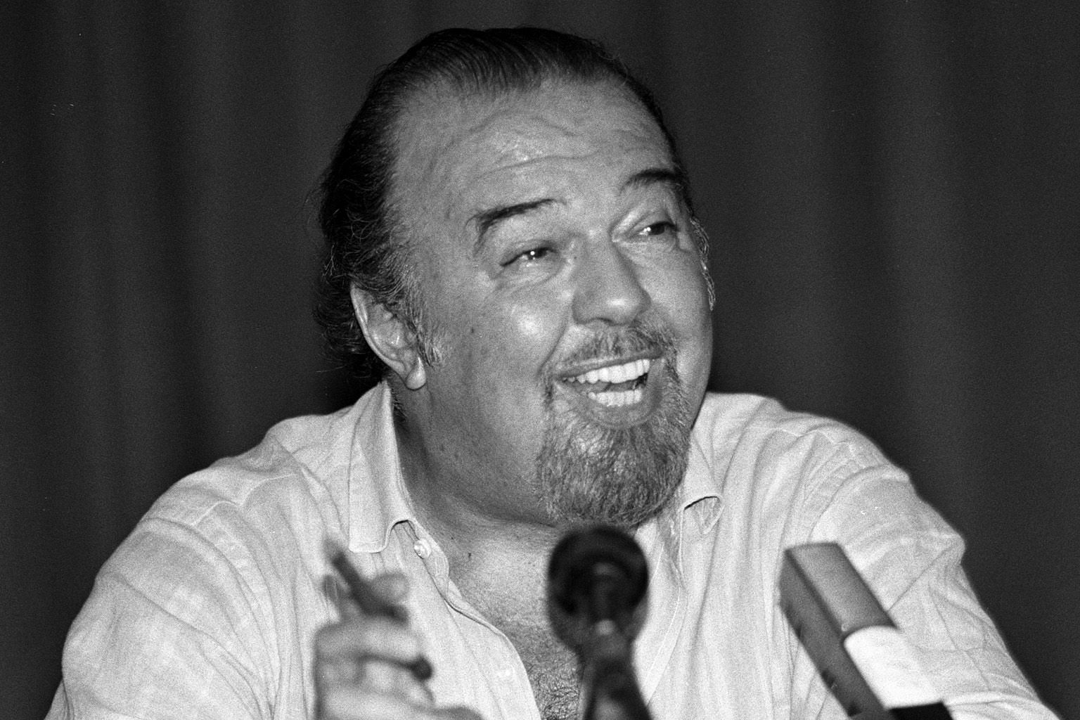 British national theatre director Peter Hall in a 1988 photo.
