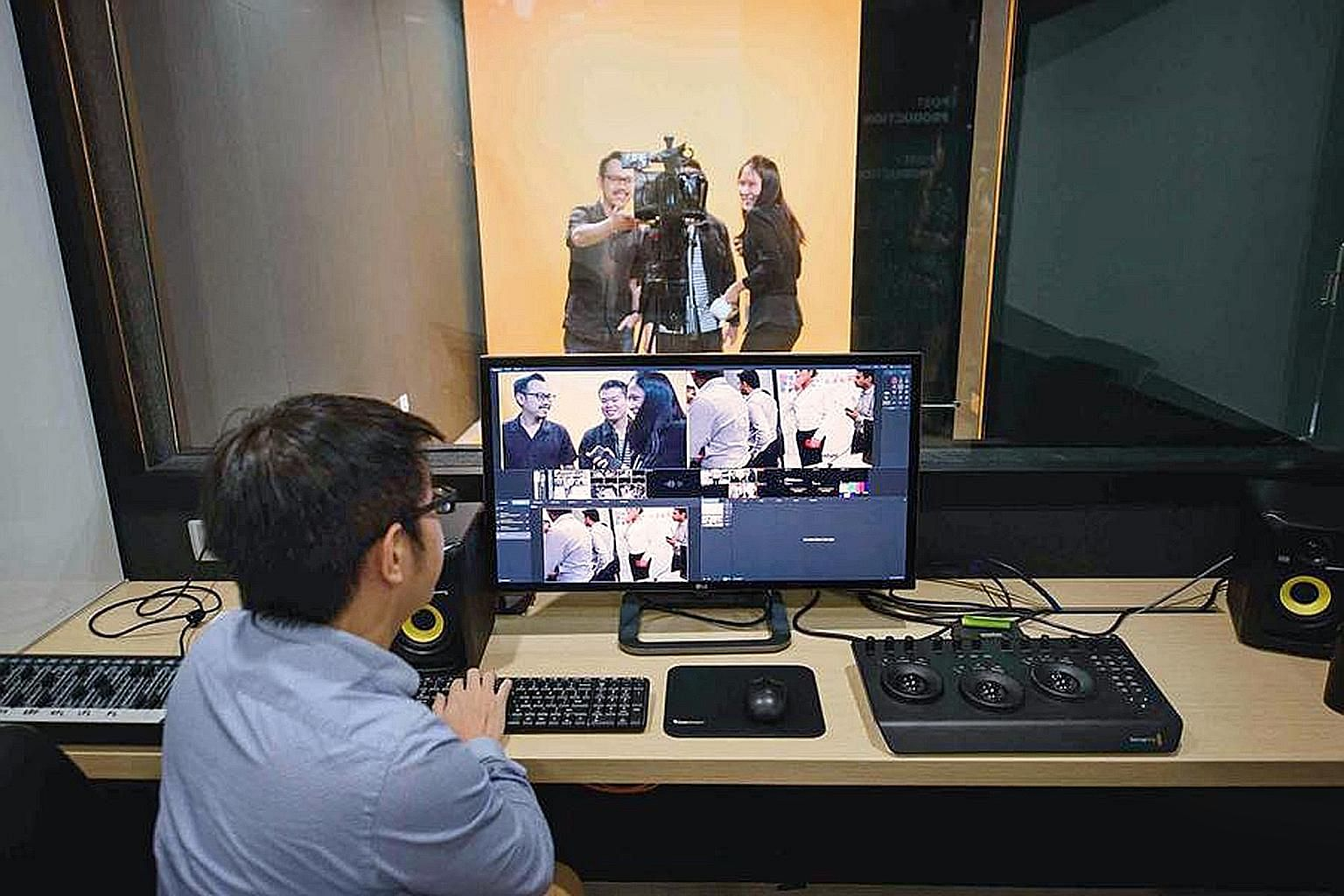 Accenture's digital hub includes an interactive studio which offers live content production and video-editing facilities.