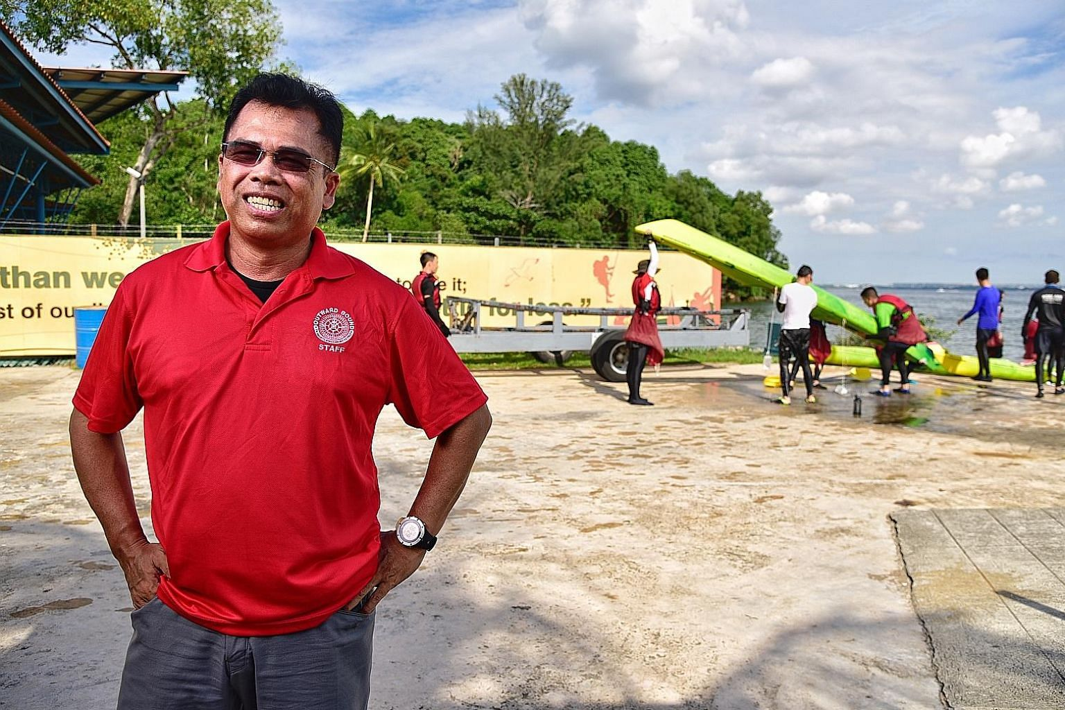 Mr Shaharudin Othman says joining Outward Bound Singapore as an instructor paved the way for him to explore his interest in sports such as kayaking and diving.