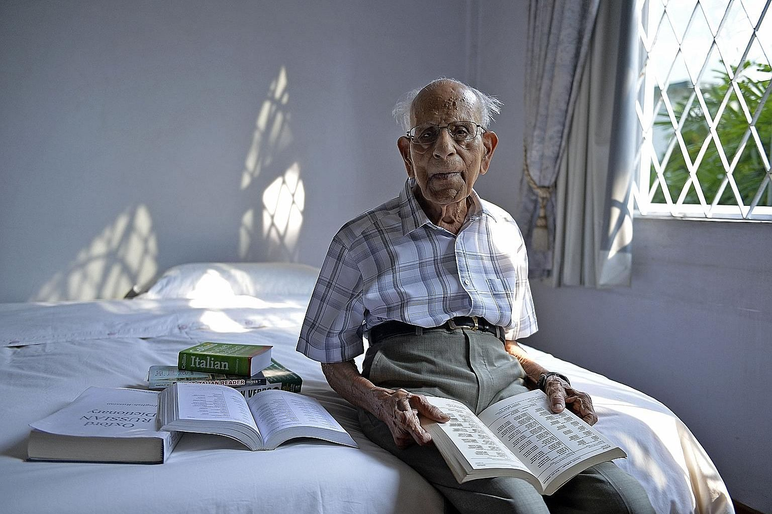 Mr Naganathan Vaithinathan in a photo taken when he was 99 years old. After retiring from the education field, he earned a barrister-at-law certificate in England, and ran his own law firm for 18 years.