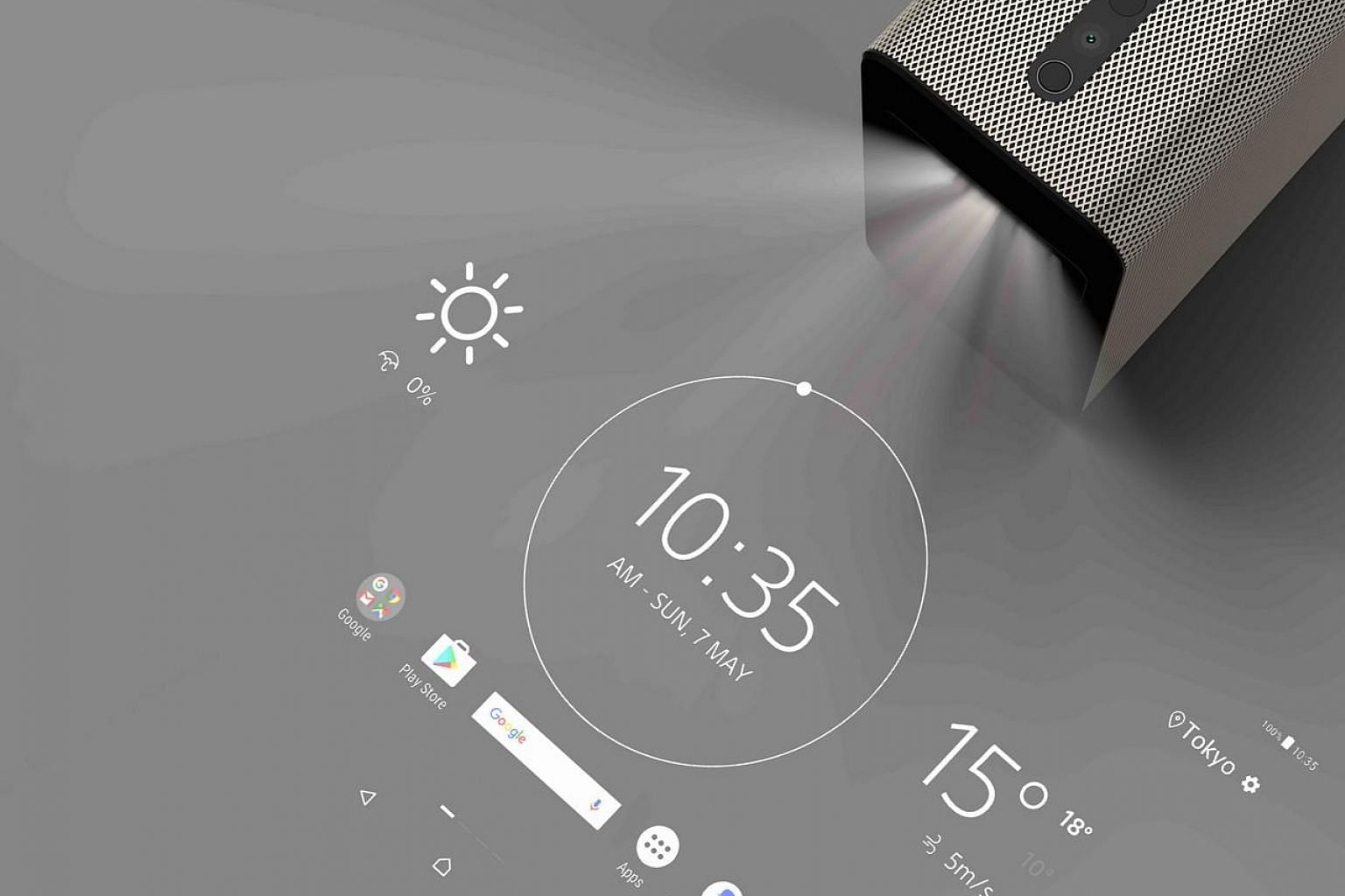 The Xperia Touch transforms any large-enough surface area into a virtual screen that you can interact with.