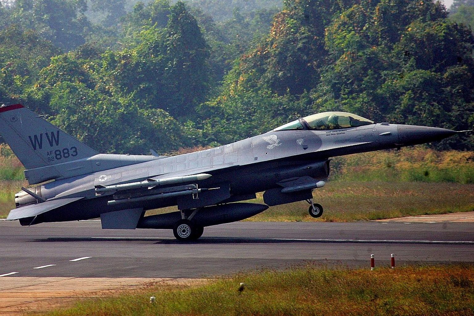 A file photo of an F-16 from the US military in action during a joint India-US air force exercise in India. Lockheed Martin has offered to move its F-16 production line to India from Texas, and make it the sole factory worldwide if New Delhi orders a