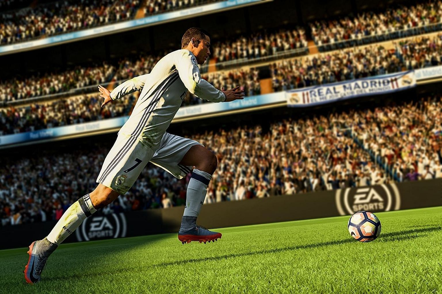 In Fifa 18, the developers have recorded the unique movement styles of top players such as Real Madrid's Cristiano Ronaldo, adding much more realism to the game.