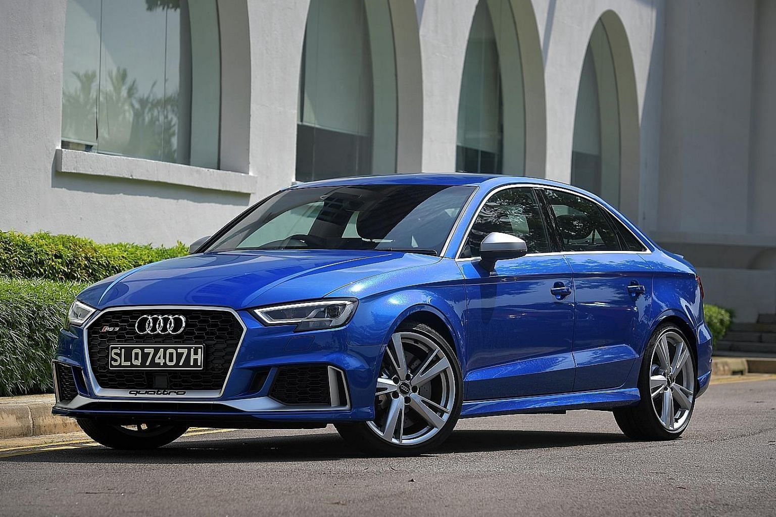 The Audi RS3 Sedan's effortless steering, unshakeable traction and powerful engine make for an electrifying drive.