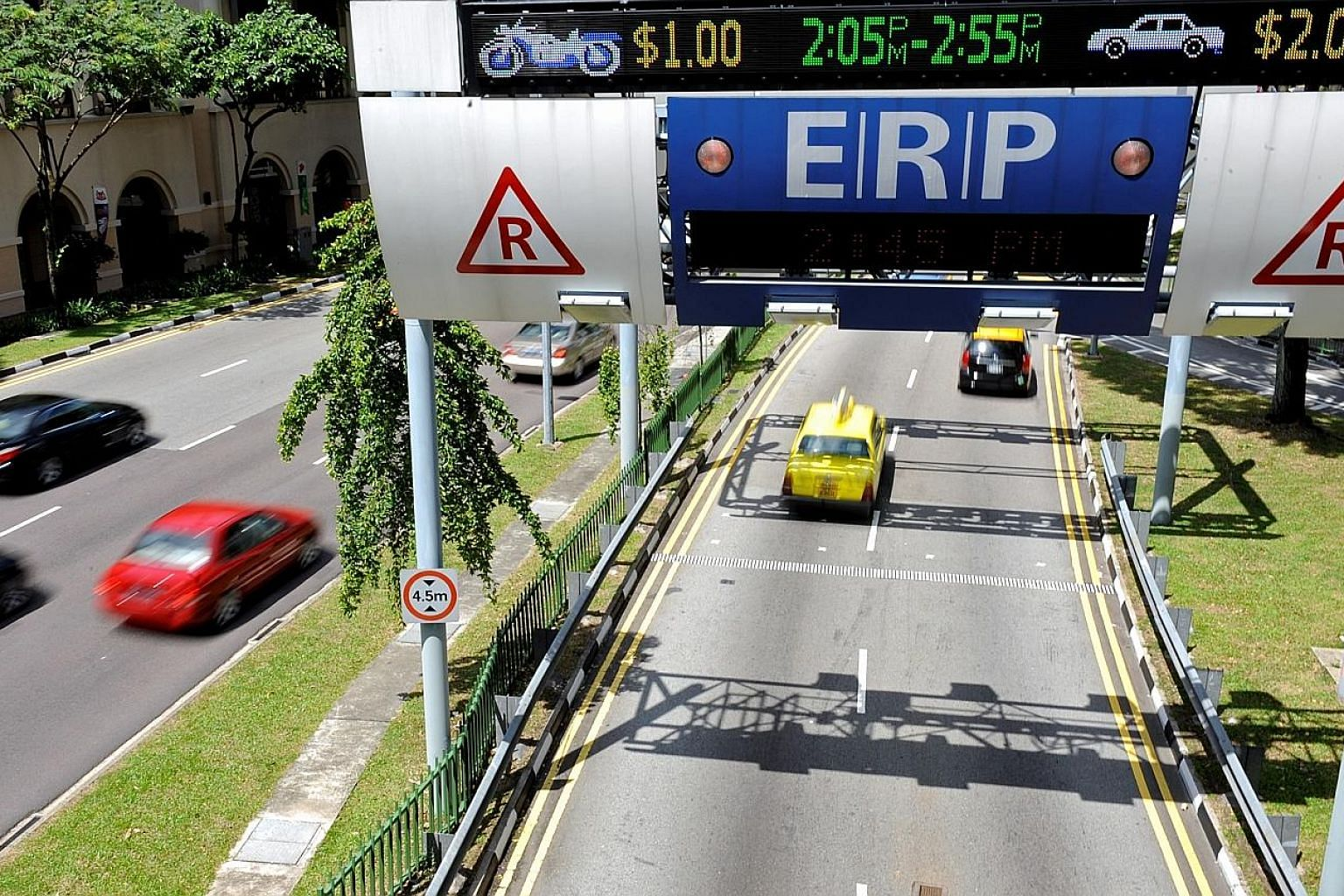 ERP rates vary for different roads and time slots, depending on traffic conditions in the area. This serves to encourage motorists to change their route, mode of transport or time of travel.