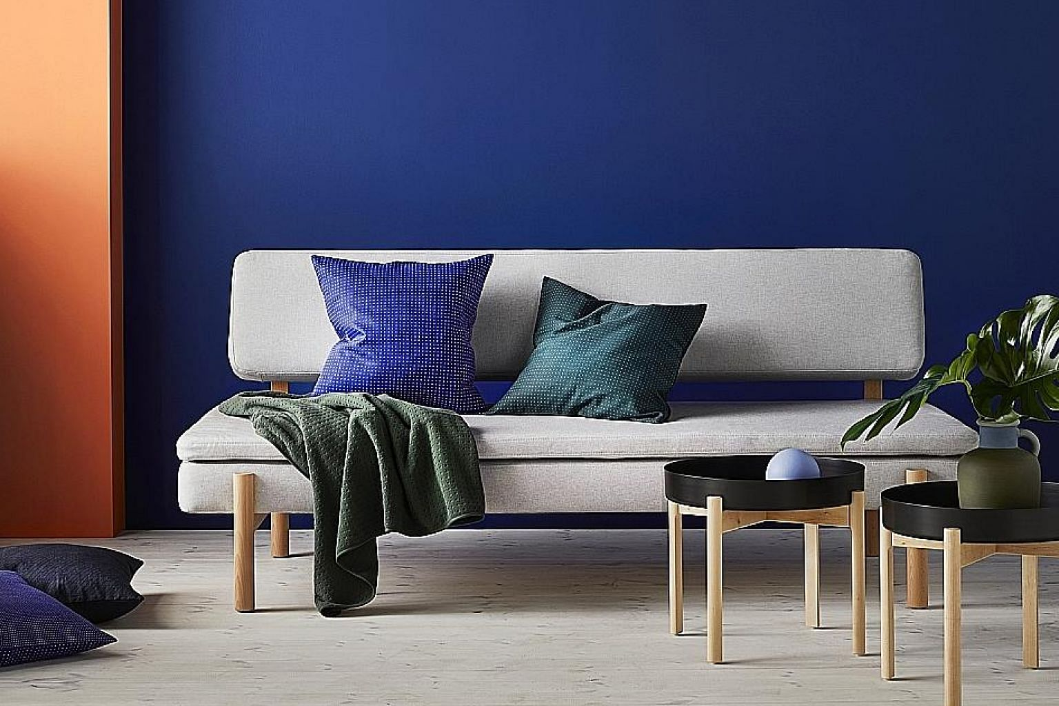 New designs of Ikea's Frakta bag and a sofa (above) from the Ypperlig collection.