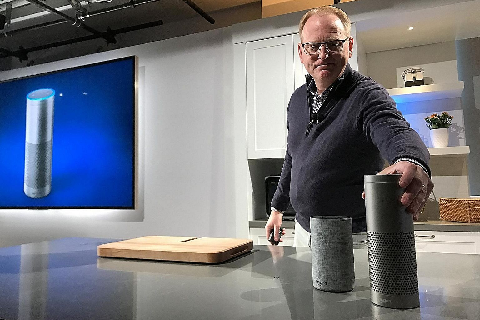 Amazon senior vice-president David Limp with the company's new voice-controlled Echo and Echo Plus. Besides trusting machines to just do something, like wash clothes, people today let devices decide what they should do and when to do it. The next gen