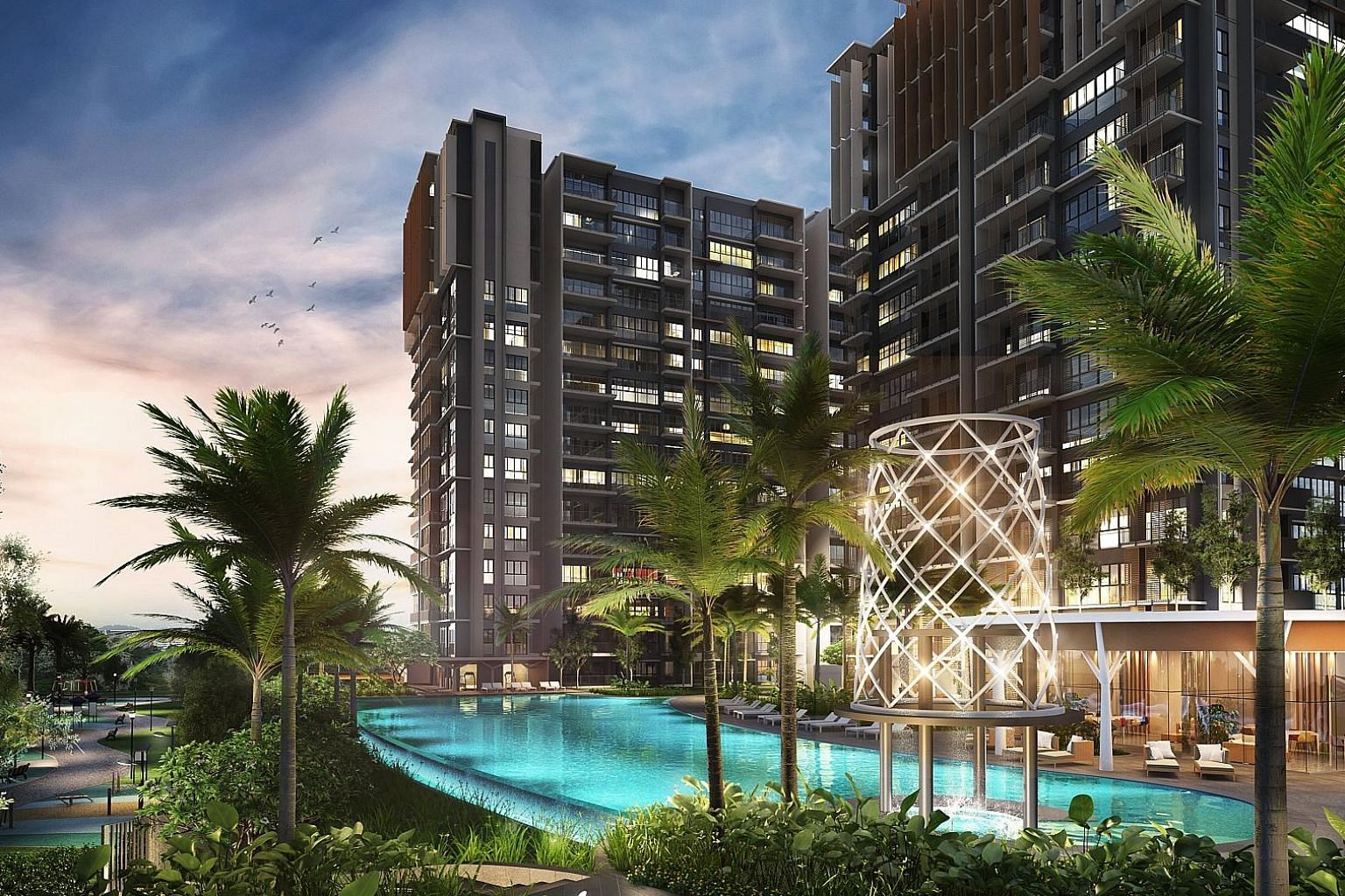 An artist's impression of executive condo Parc Life, which sold 48 units.