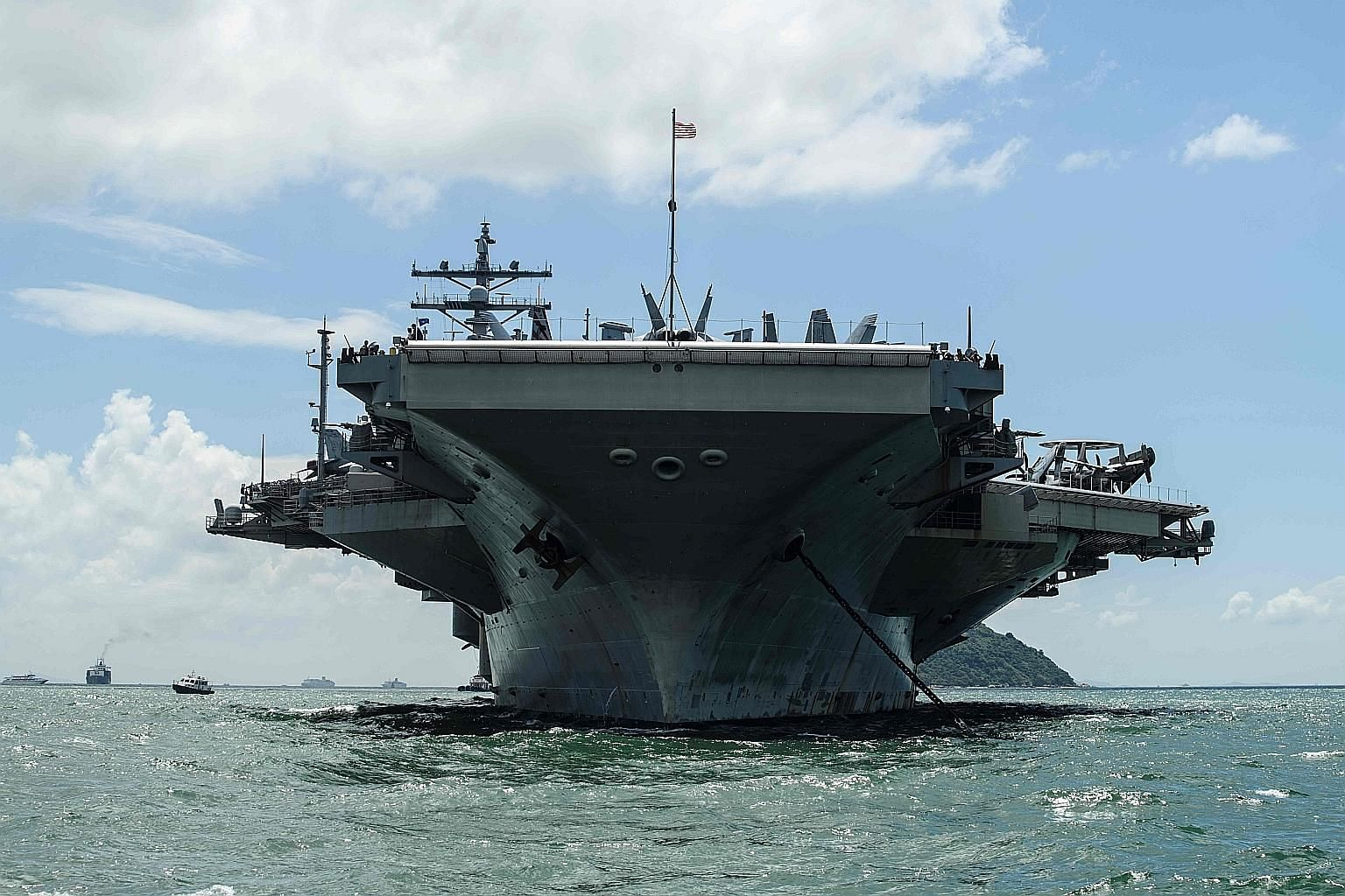 The USS Ronald Reagan aircraft carrier is among key US strategic assets joining South Korean warships and anti-submarine aircraft in the maritime exercise in waters east and west of the Korean peninsula.