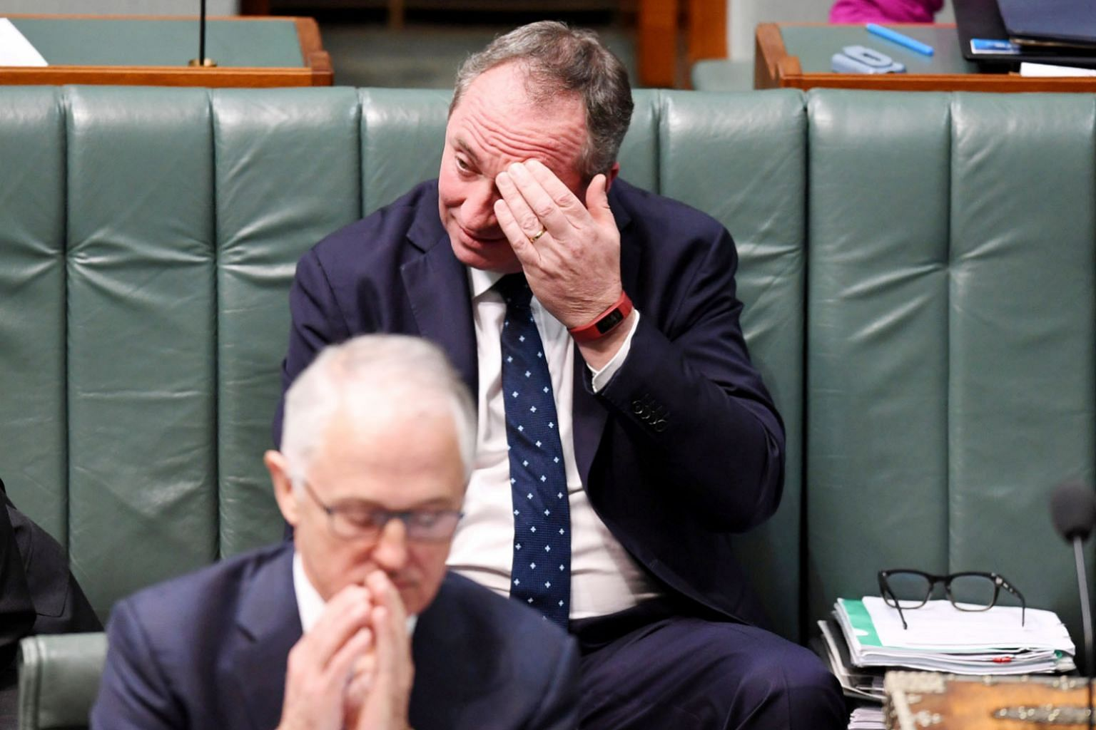 Deputy Prime Minister Barnaby Joyce, with Prime Minister Malcolm Turnbull, at Parliament House in Canberra in August. Mr Joyce, the National Party leader, faces a High Court decision on whether he was ineligible to be elected at the last polls under