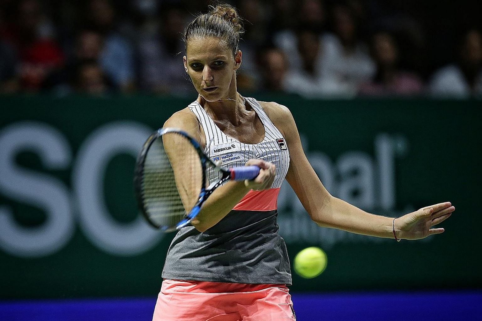 Czech Karolina Pliskova during her straightforward win over Venus Williams yesterday. She was more comfortable on the court compared to last year.