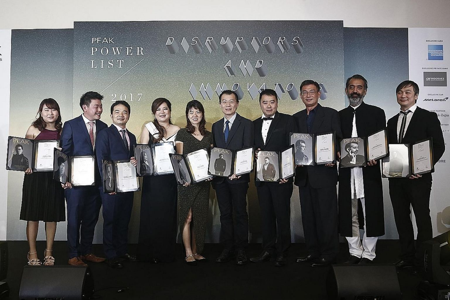 Ten leading innovators and disrupters were honoured in The Peak magazine's Power List 2017 at the Grand Hyatt Singapore last night. Change was the theme of the night, and those honoured included Mr Wong Joo Seng, founder and chief executive officer o