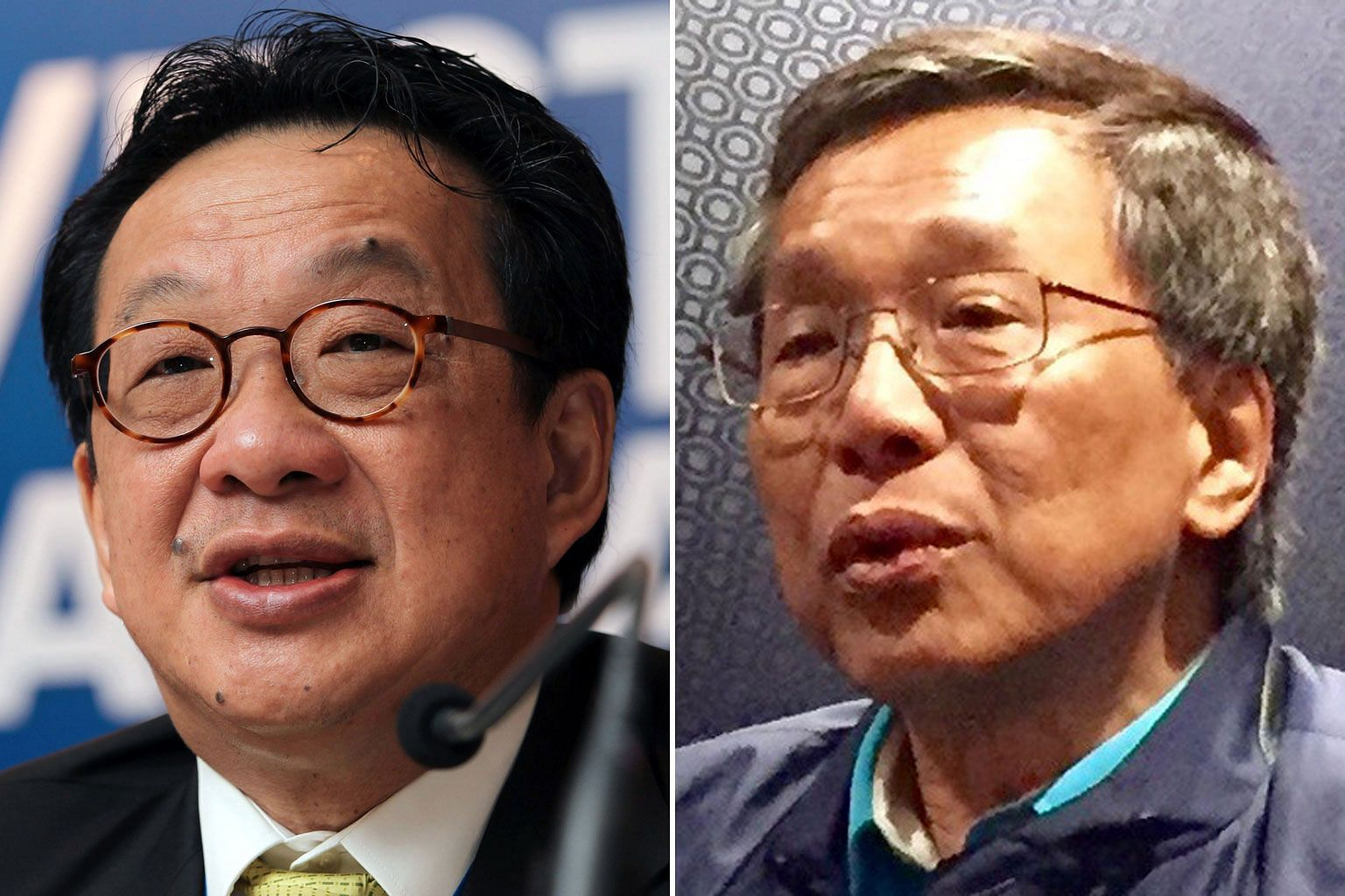 Tan Sri Francis Yeoh Sock Ping (left) is tipped to take over YTL Group. Tan Sri Lim Kok Thay is the chairman of Genting Group, which is locked in court battles over ownership.