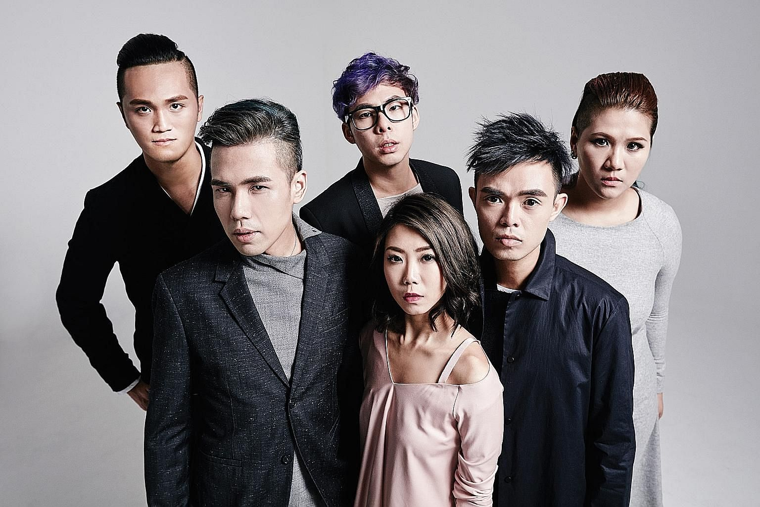 Singaporean singer-songwriter Jasmine Sokko's 1057 topped Spotify's local Top 50 Viral chart late last year. Local band MICappella, comprising (from left) Peter Huang, Eugene Yip, Goh Mingwei, Tay Kexin, Juni Goh and Calin Wong, sold out all tickets