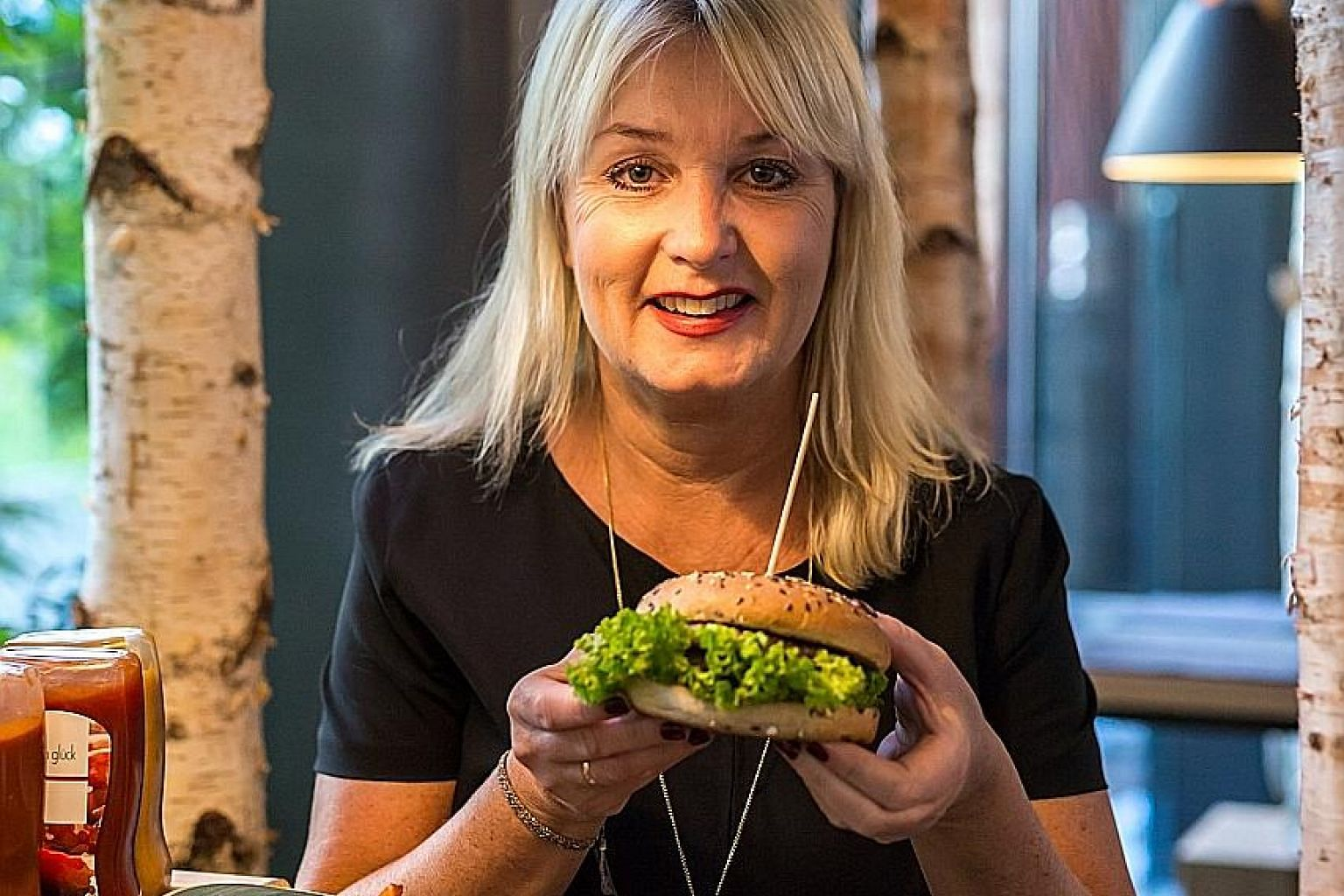 Mrs Gunilla Hirschberger, who co-founded Hans Im Gluck with her husband, Mr Thomas Hirschberger, is vegan.