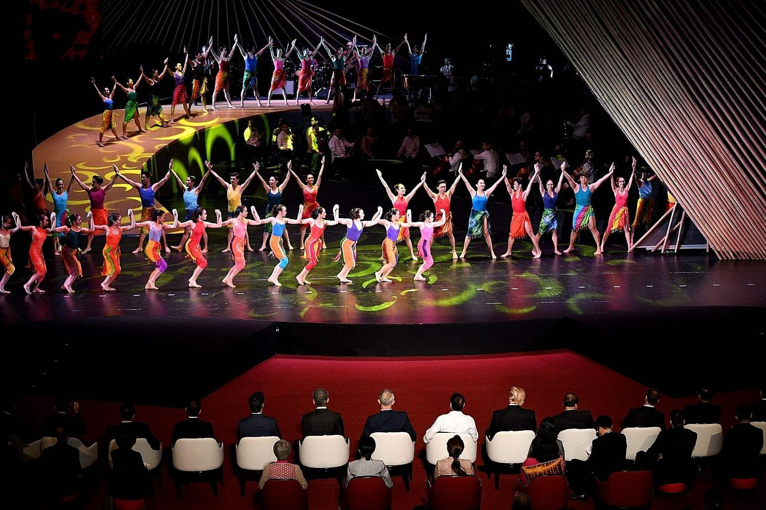 A ballet performance at the opening ceremony of the 31st Asean Summit in Manila on Nov 13. By mobilising the notion of citizenship, South-east Asian citizens should be able to gain certain benefits meaningful to them, says the writer.