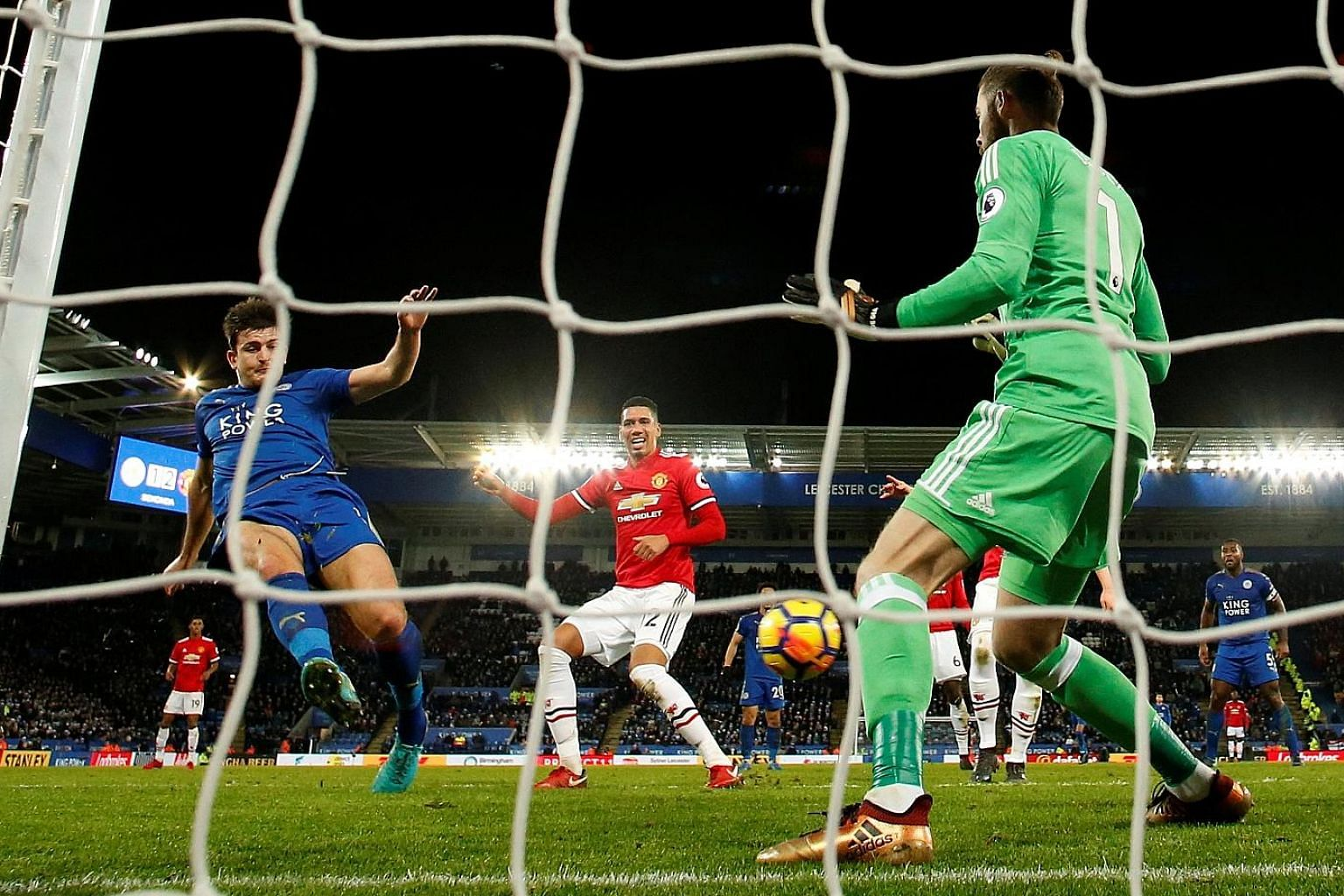 Harry Maguire equalising deep into stoppage time to rescue a point for 10-man Leicester against Manchester United and continue their good run under manager Claude Puel.
