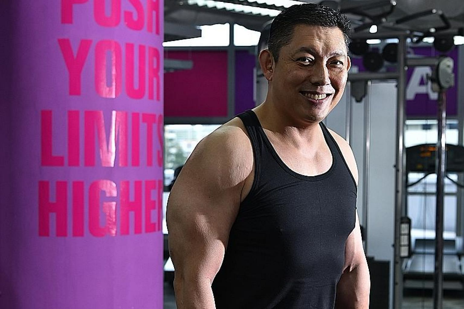 Dr Chiam Tut Fu says the gym is his playground, where he can choose from different exercises, and train at different tempos.
