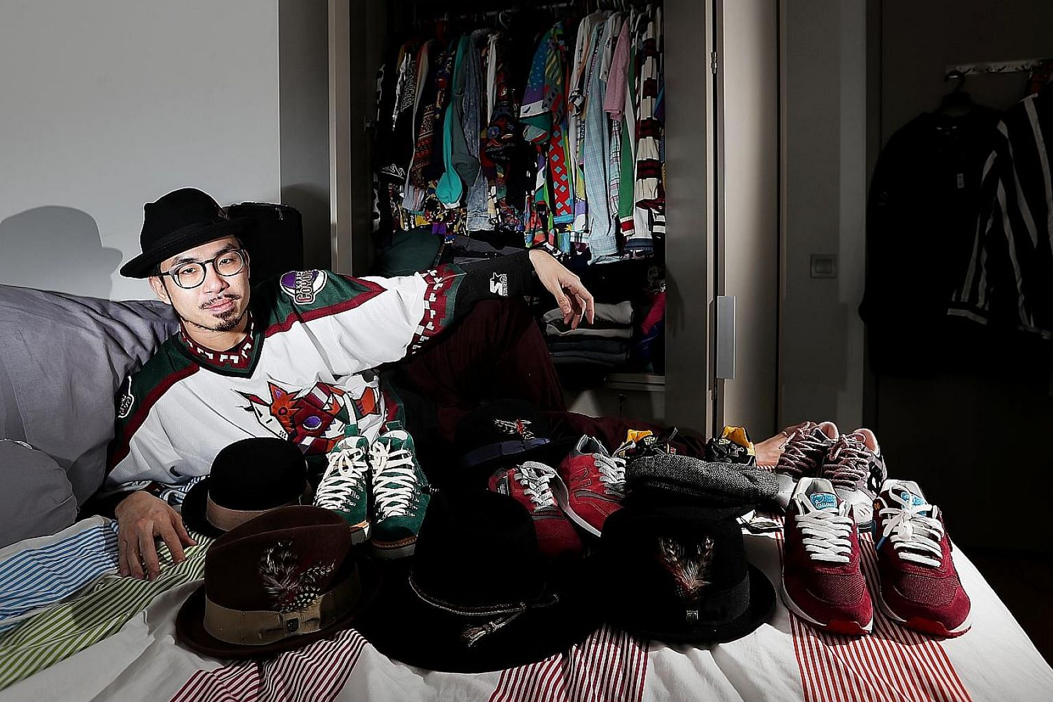 Dancer Marcus Tan is into colour, especially for his shoes.
