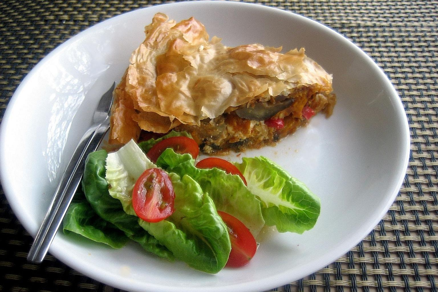 Using filo pastry for the pie will produce beautiful results, but puff pastry will work too. Allow chopped vegetables to slowly cook through, stirring occasionally.
