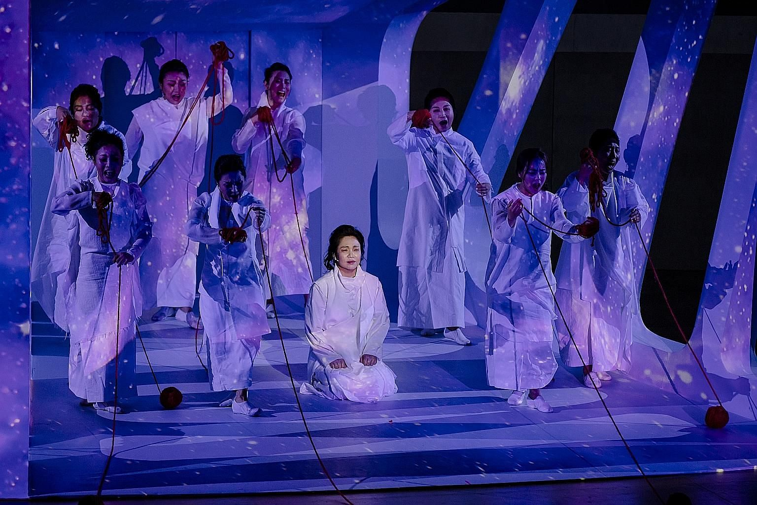 Trojan Women (above), staged as part of the Singapore International Festival of Arts last year, is one of three nominees for Production of the Year.