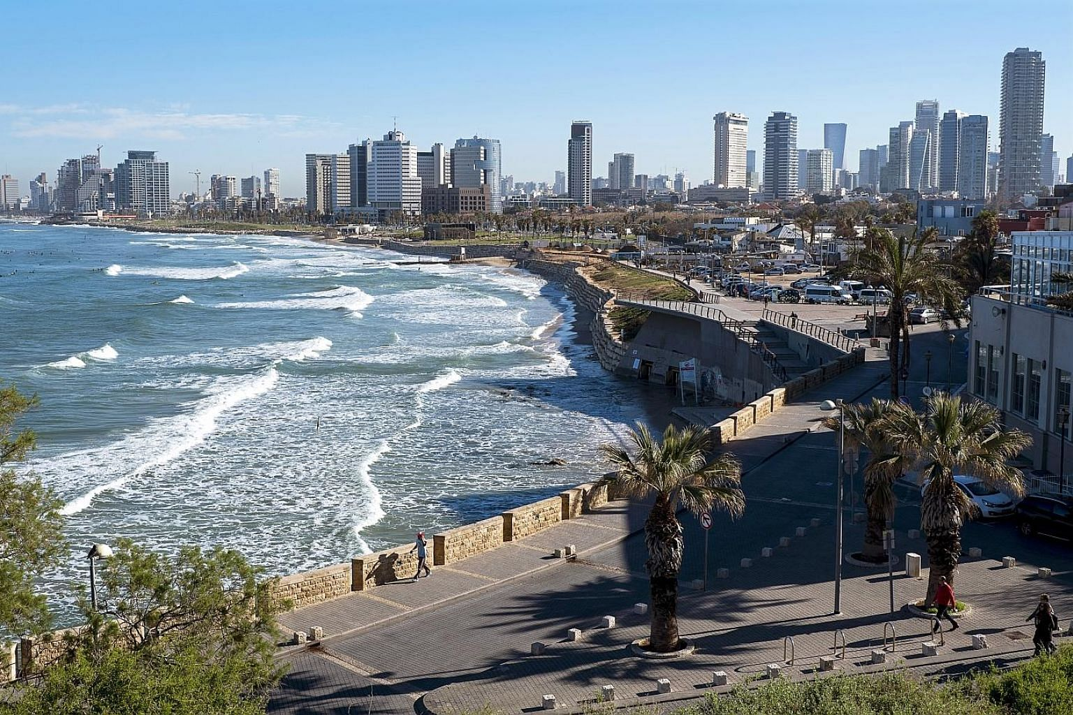The Tel Aviv skyline. The Tel Aviv Stock Exchange said in January that it was in the process of finding a strategic investor, with shareholders putting a 71.7 per cent stake valued at around US$147 million (S$195 million) up for sale.